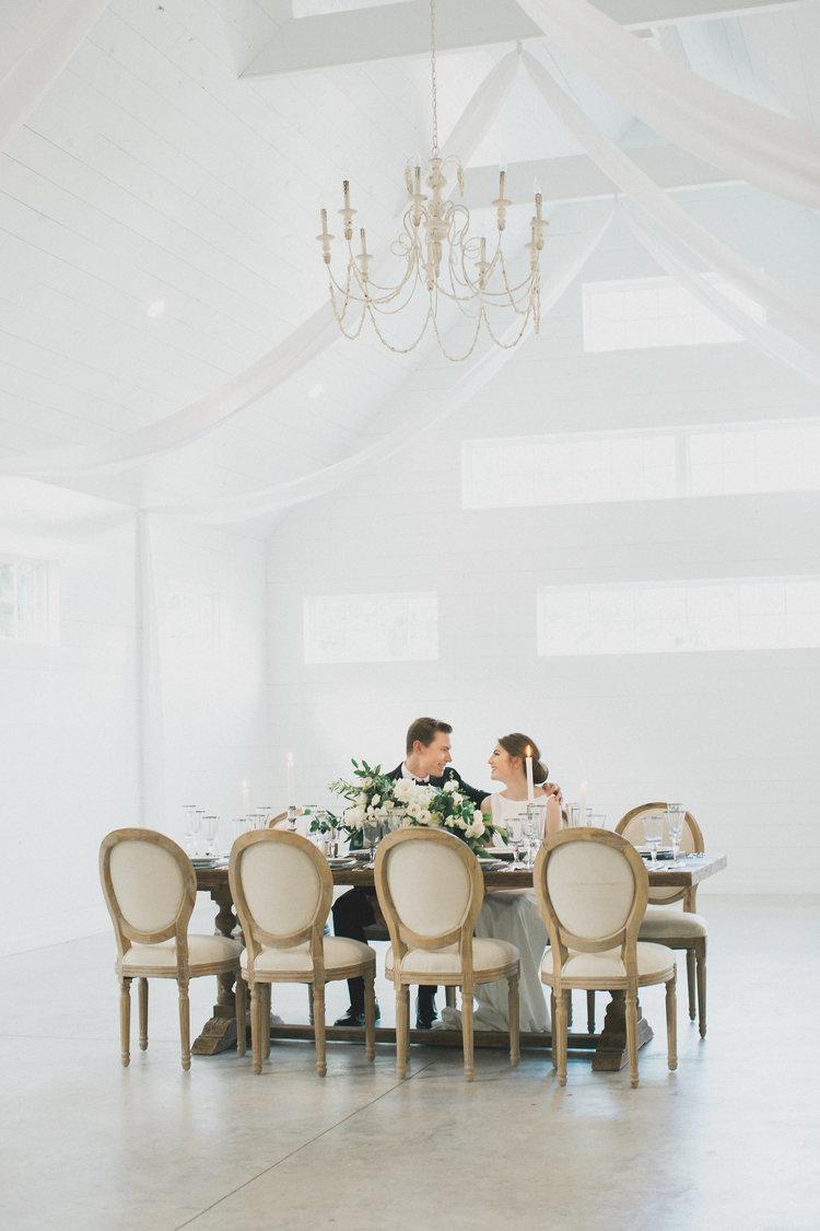 Elegant Texas Summer Wedding | Southern Summer White Barn Wedding in Dallas, TX