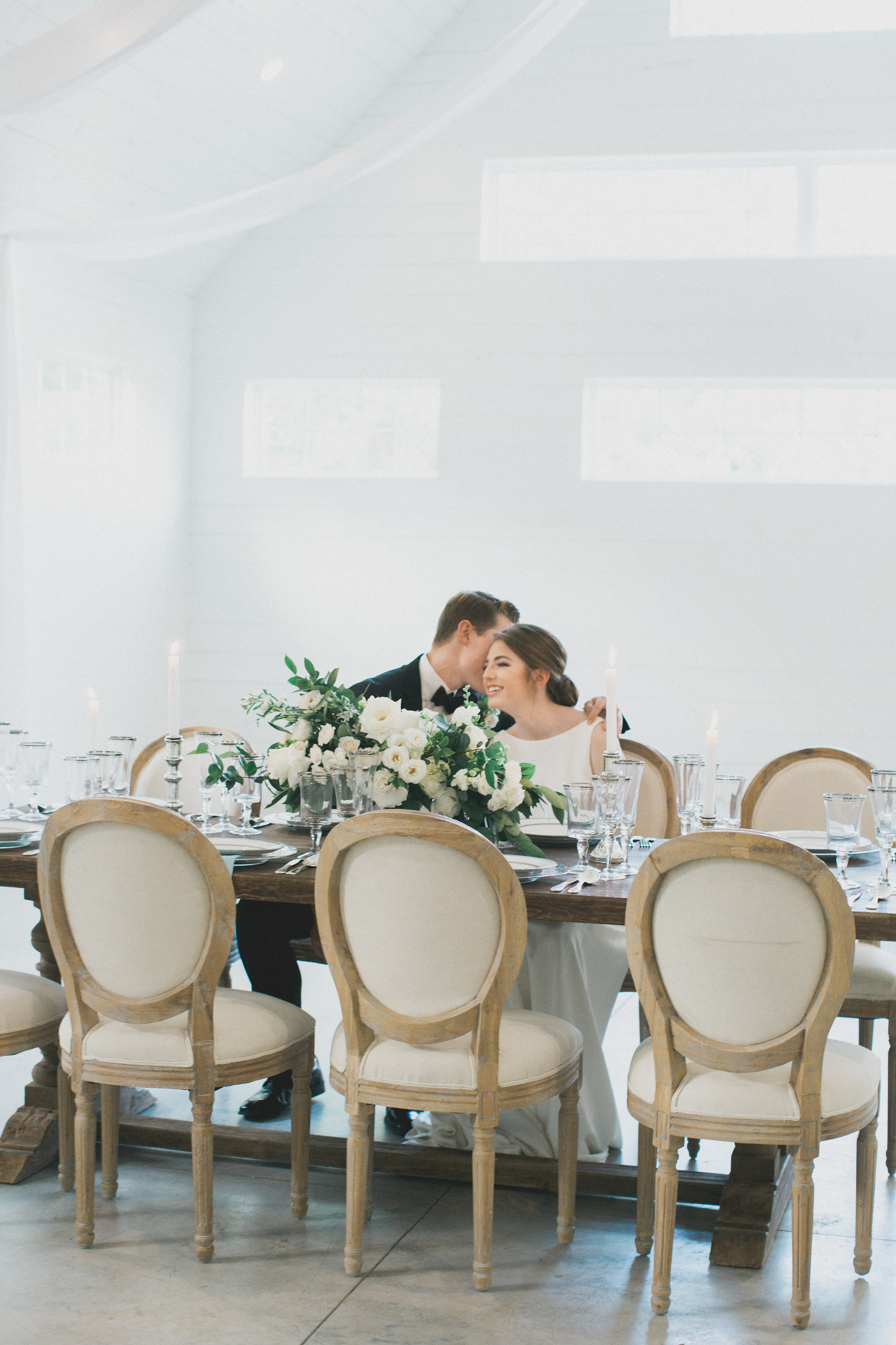 Simple Elegant Wedding Design | Southern Summer White Barn Wedding in Dallas, TX
