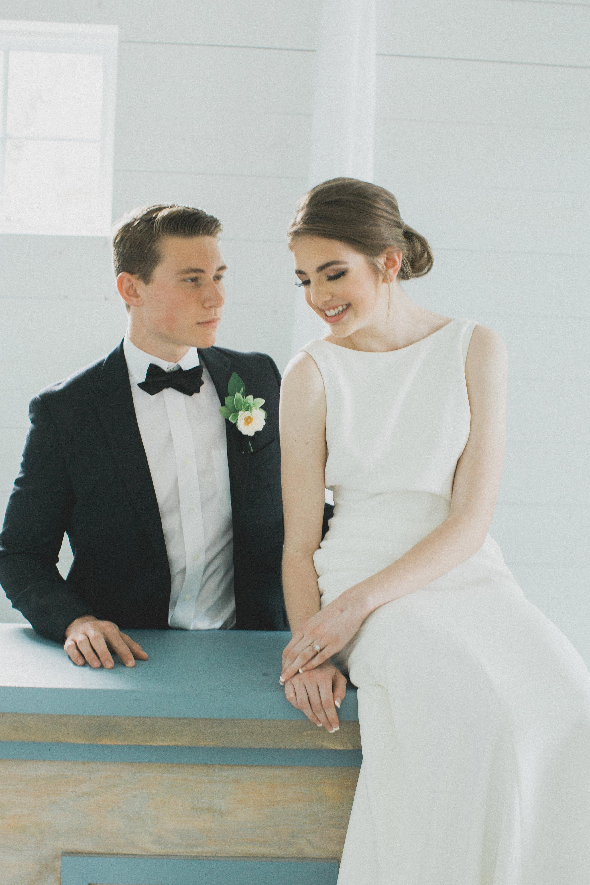 Custom Wedding Bar Design | Southern Summer White Barn Wedding in Dallas, TX