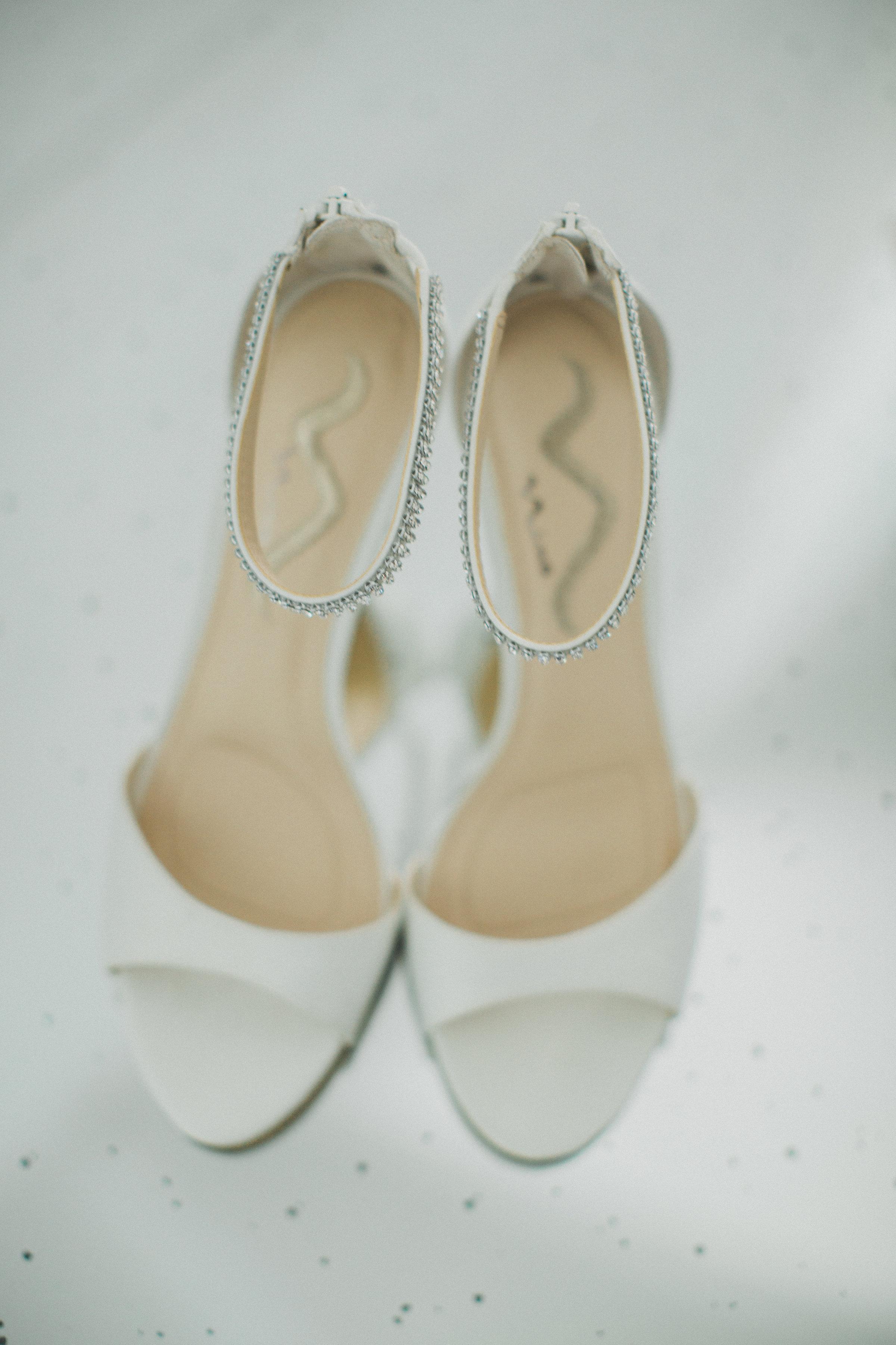 Classic Wedding Shoes | Southern Summer White Barn Wedding in Dallas, TX