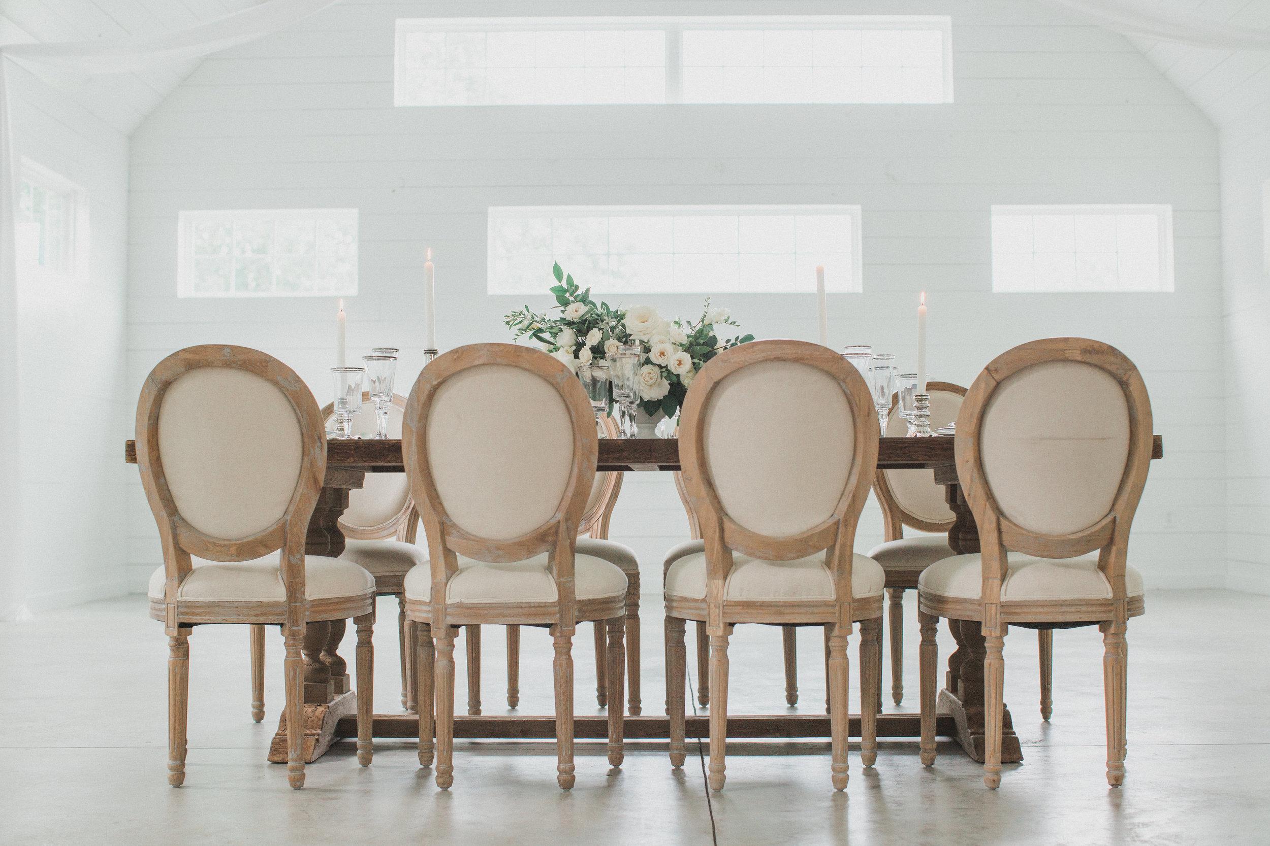 Elegant Neutral Wedding Palette | Southern Summer White Barn Wedding in Dallas, TX