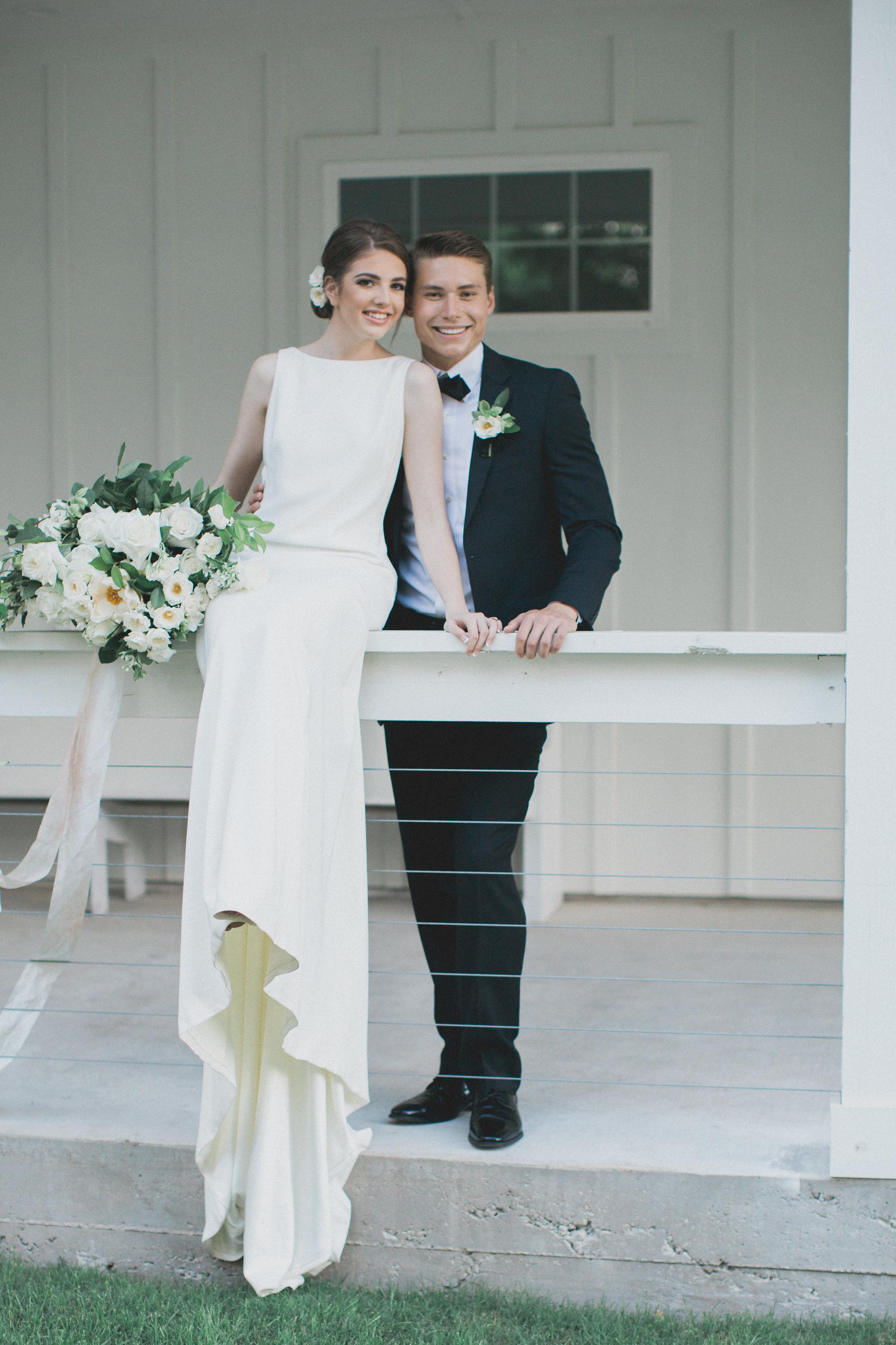 Classic Southern Elegance | Southern Summer White Barn Wedding in Dallas, TX