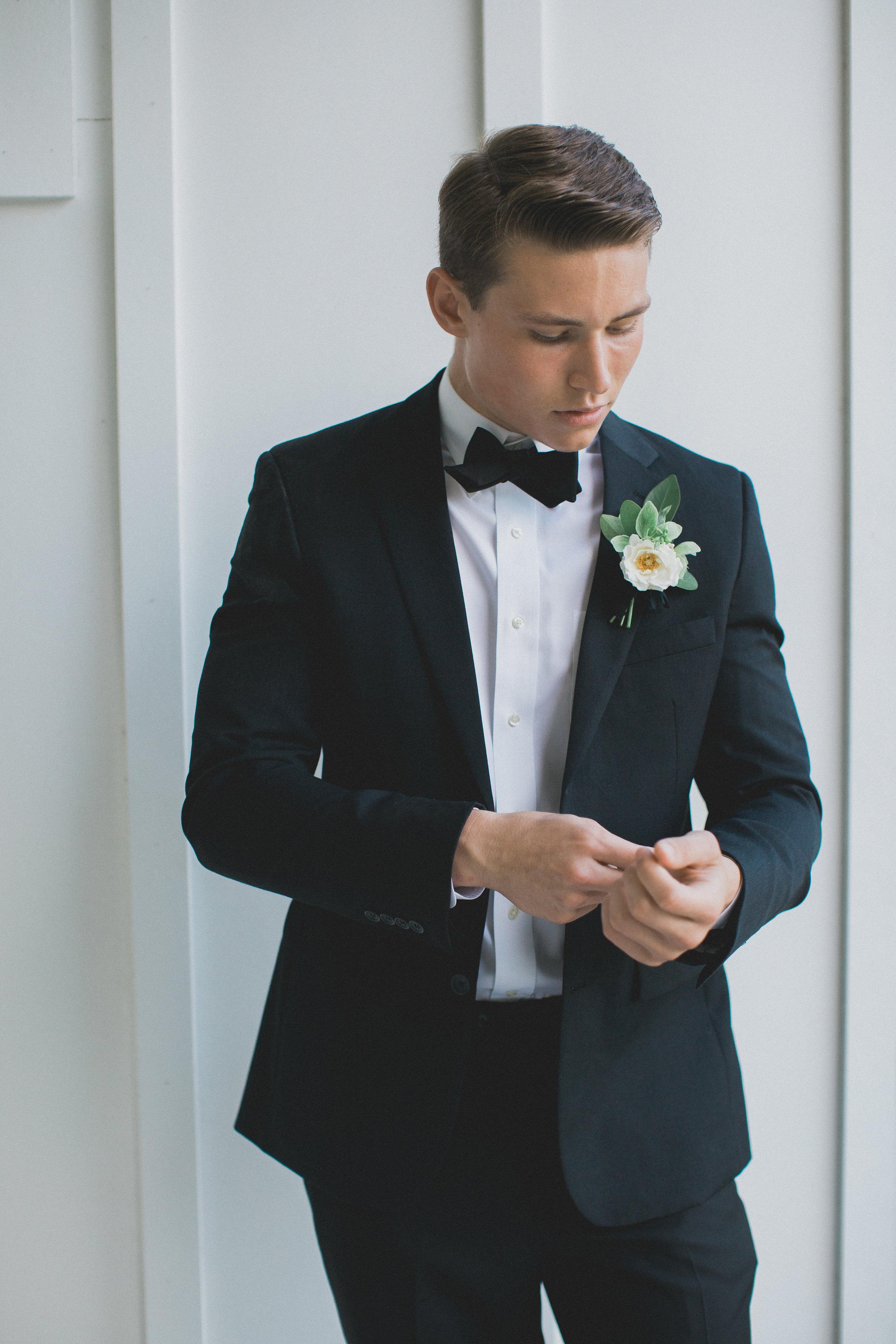 Groom Tux Inspiration | Southern Summer White Barn Wedding in Dallas, TX