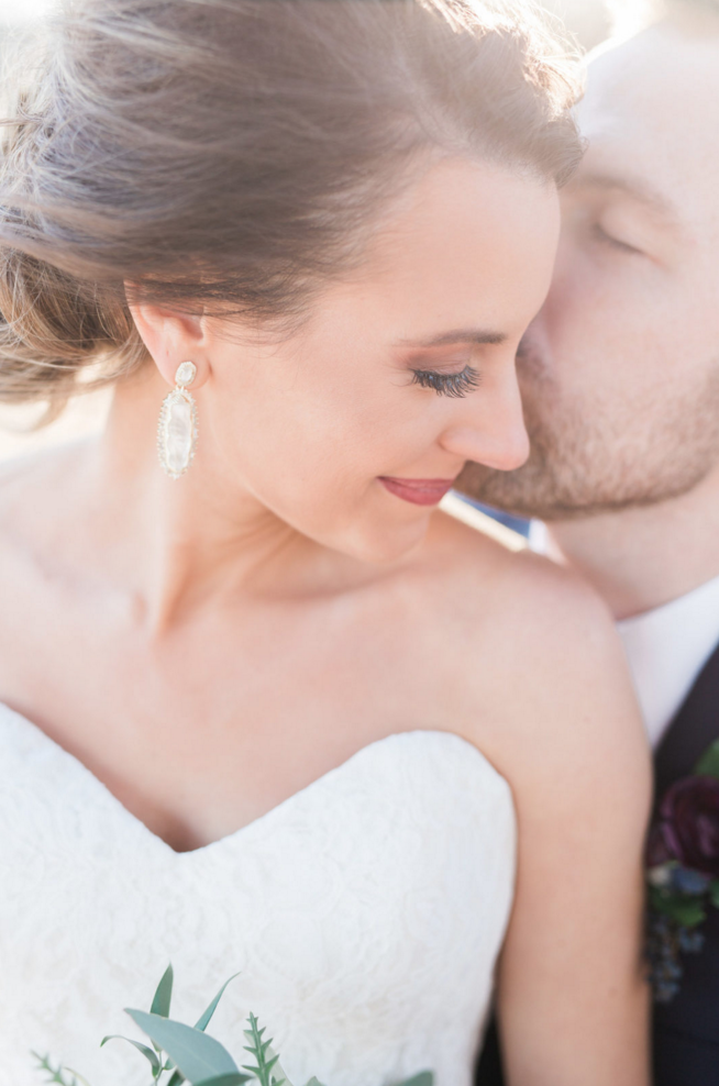 Bridal Jewelry Inspiration | Maroon and Navy Rustic Winter Wedding in Fort Worth, TX