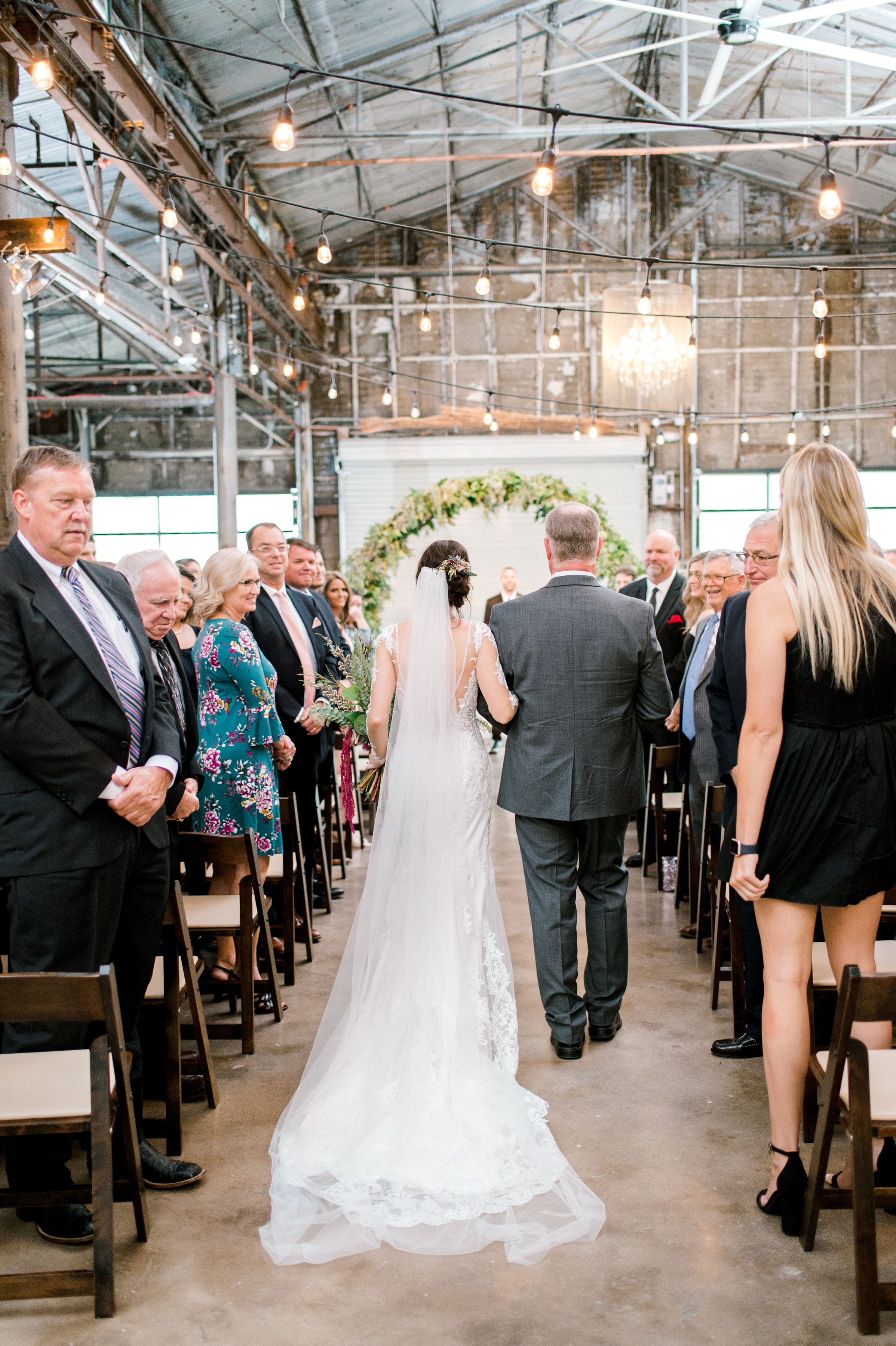 Industrial Bohemian Wedding Ceremony in Downtown Fort Worth