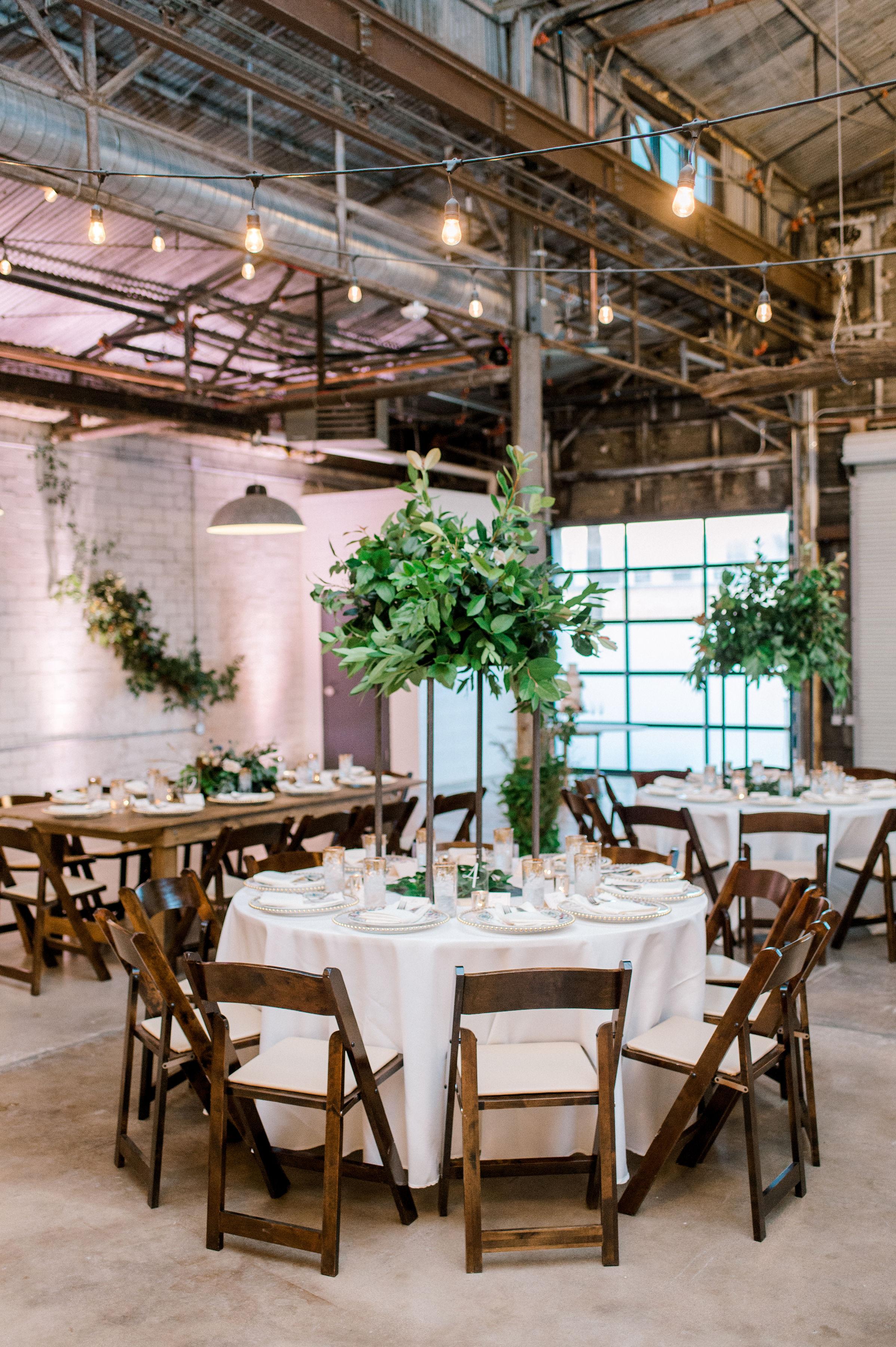 Modern Industrial Fall Maroon Wedding | Fort Worth Texas