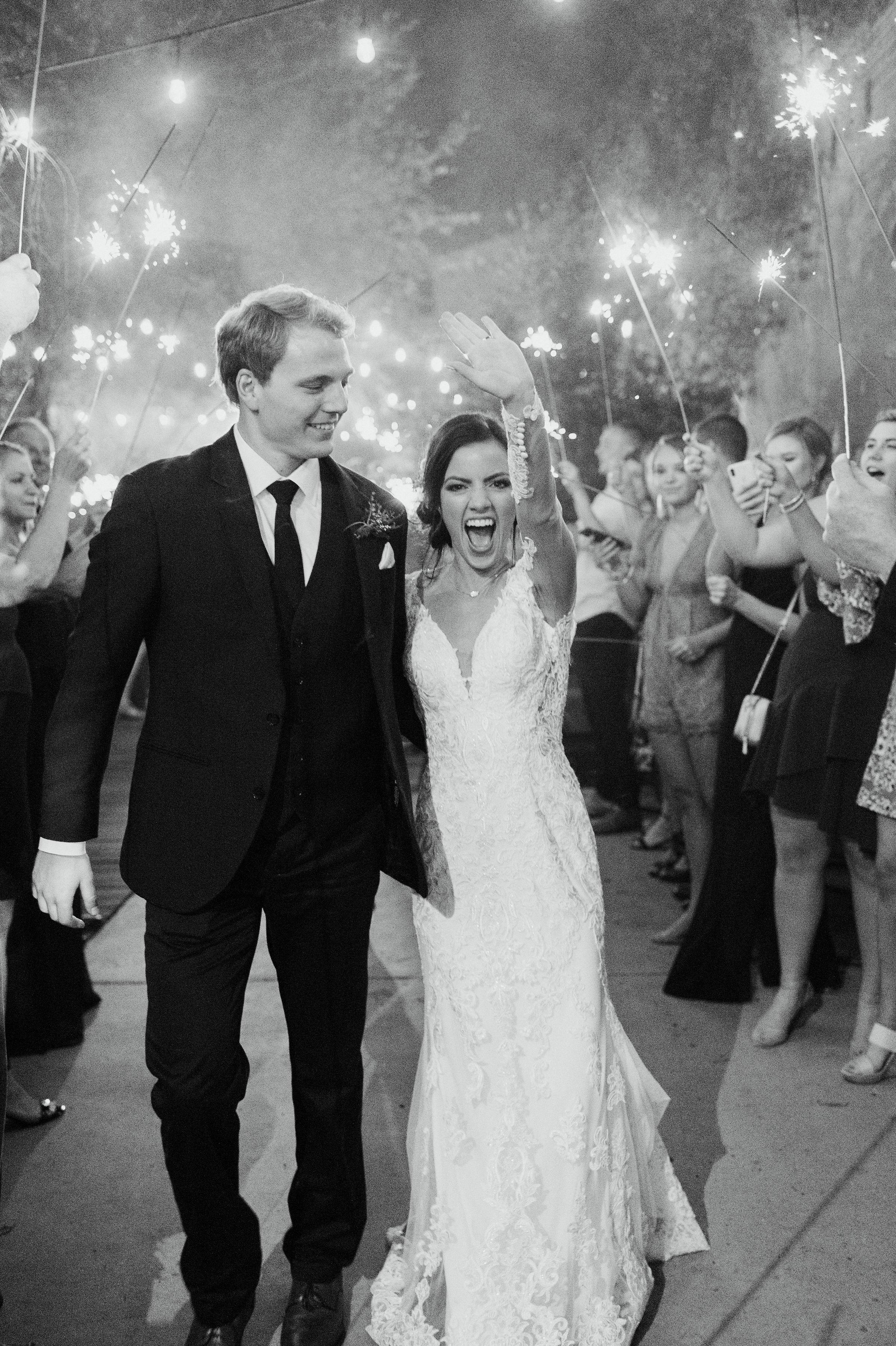 Wedding Sparkler Exit | Downtown Fort Worth Wedding