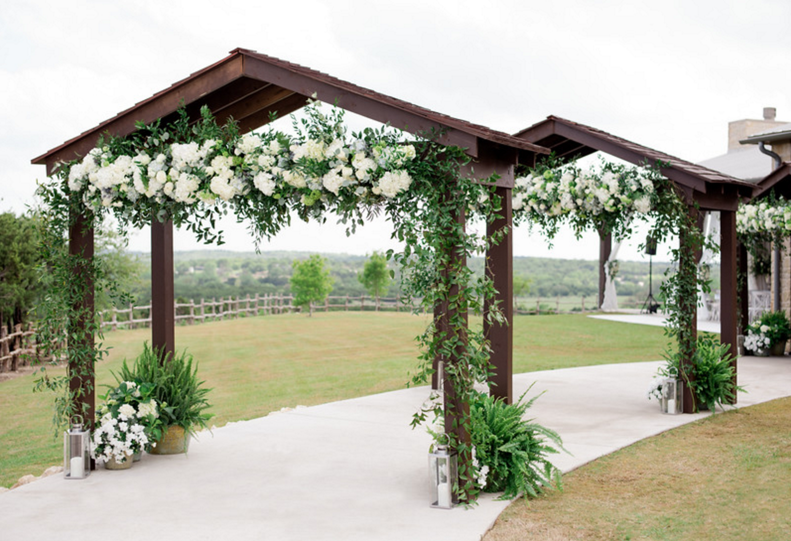 Spring Texas Vineyard Wedding | Floral Ceremony Arch