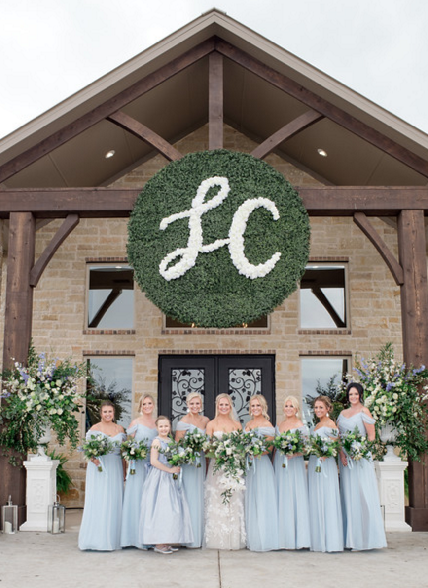 Spring Texas Vineyard Wedding | Custom Wedding Monogram