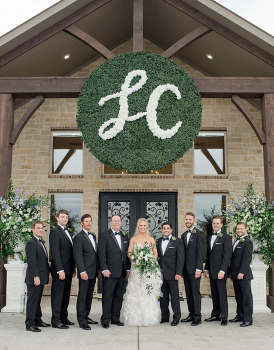 Custom Wedding Monogram | Spring Texas Vineyard Wedding