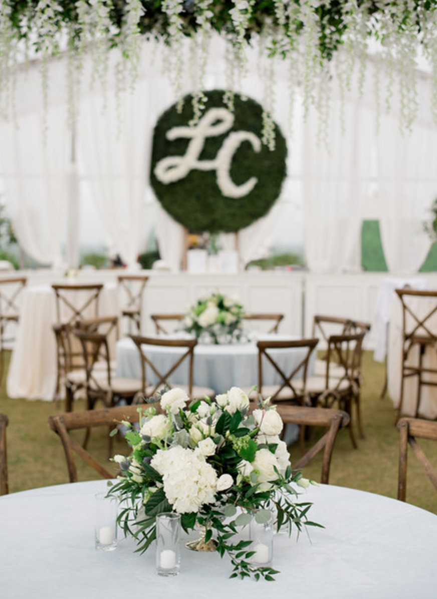 Organic Fine Art Outdoor Wedding Reception | Fort Worth