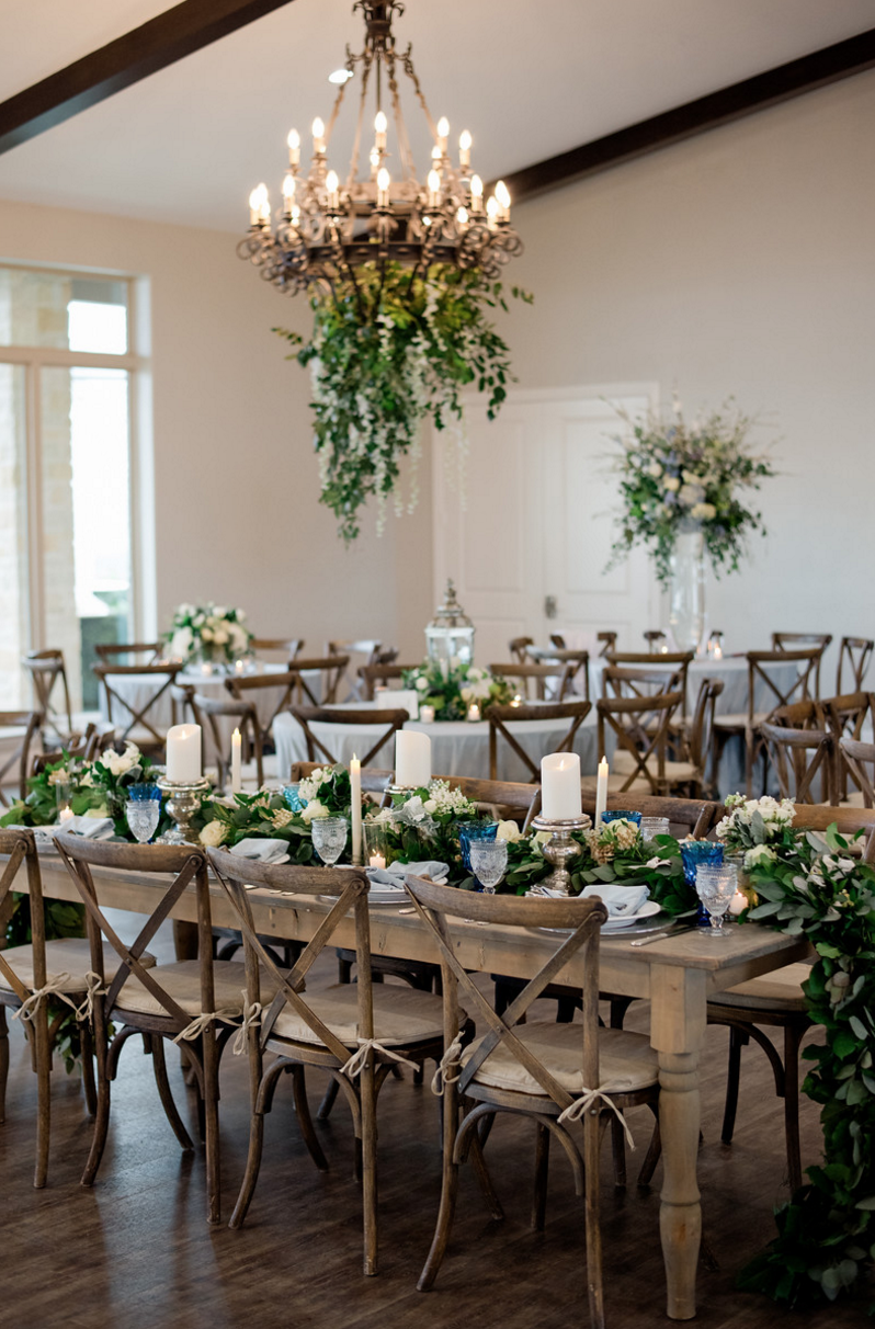 Organic Fine Art Vineyard Wedding Reception | Fort Worth