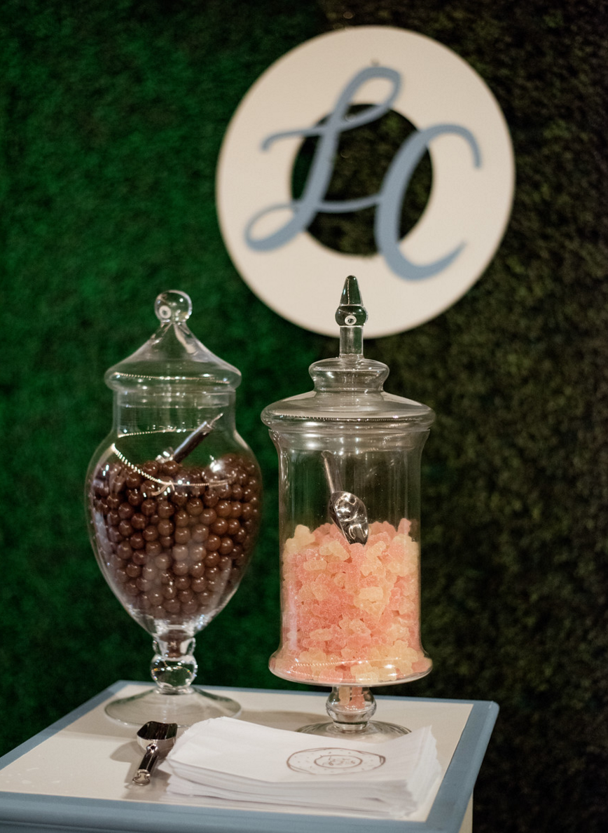 Candy Dessert Bar | Spring Texas Vineyard Wedding