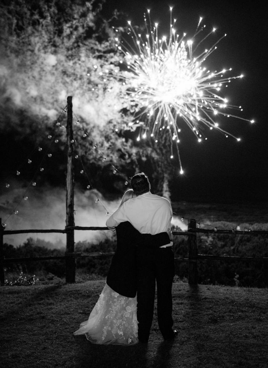 Wedding Fireworks | Spring Texas Vineyard Wedding