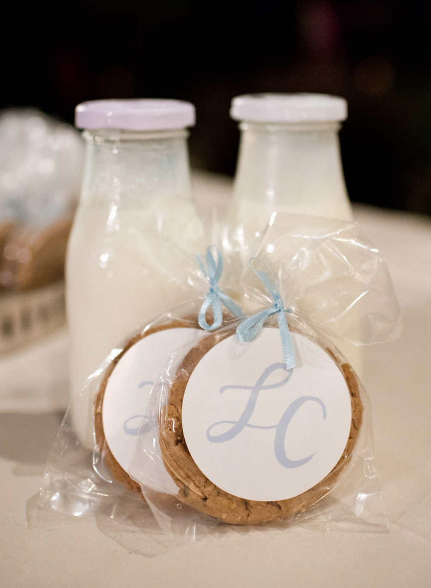 Cookies and Milk Wedding Favors | Spring Texas Vineyard Wedding