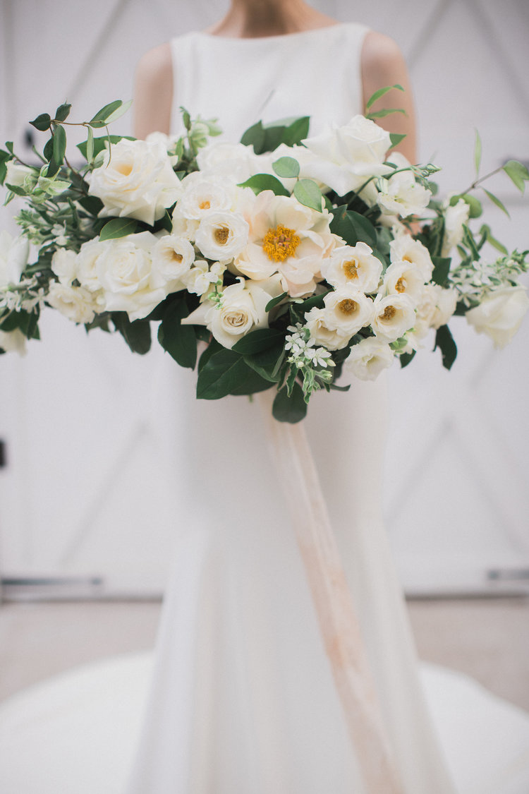 All White Classic Southern Wedding