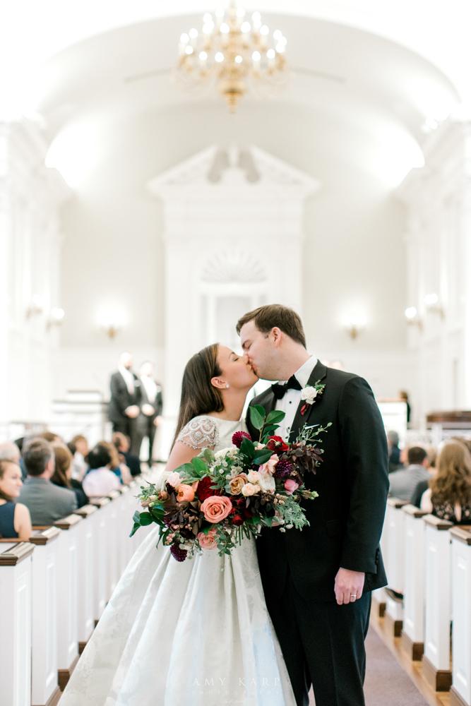 Maroon and Navy Fall Wedding | Fort Worth