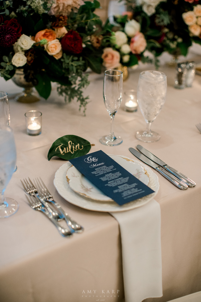 Maroon and Navy Wedding | Formal Fall Vintage Wedding