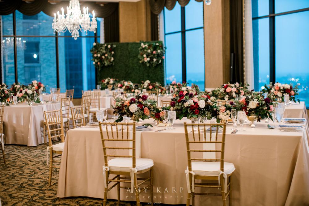 Formal Fall Wedding | Maroon and Navy Vintage Fall Wedding Design