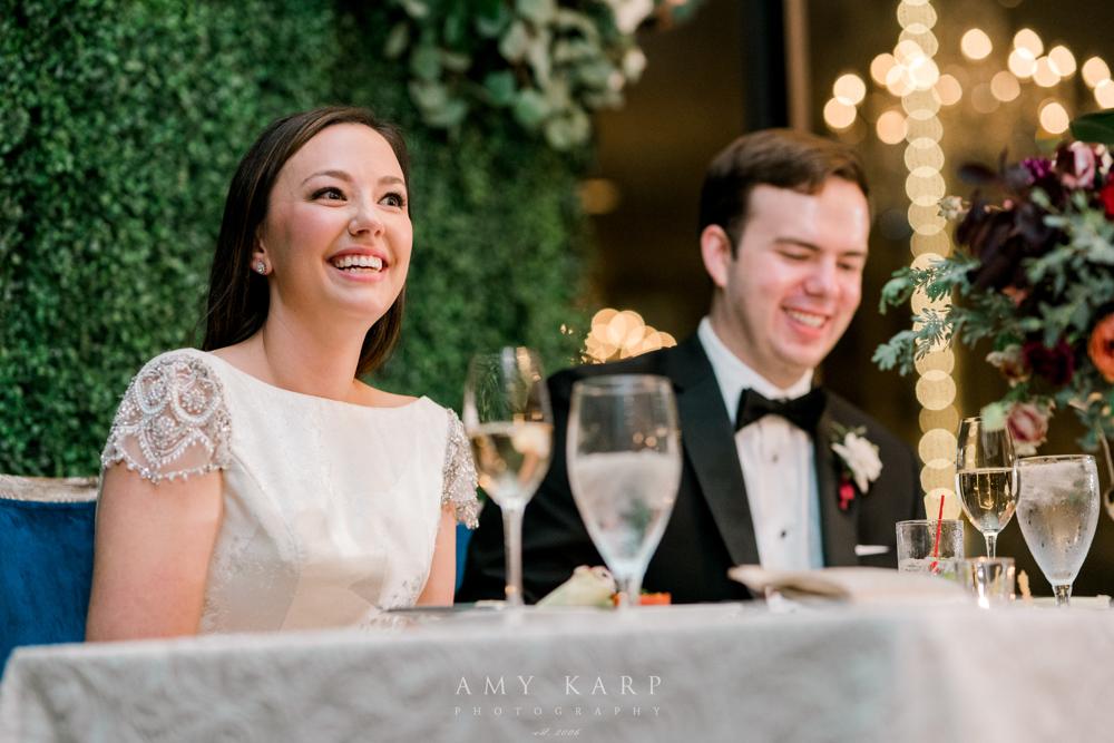 Sweetheart Table Formal Wedding | Maroon and Navy Vintage Fall Wedding
