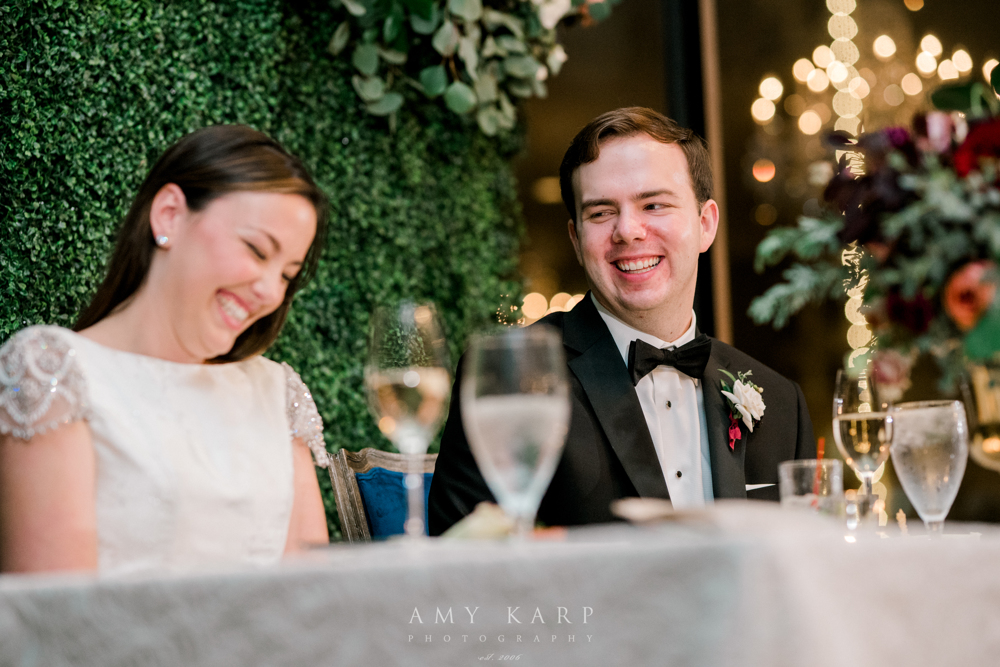 Bride and Groom Sweetheart table | Maroon and Navy