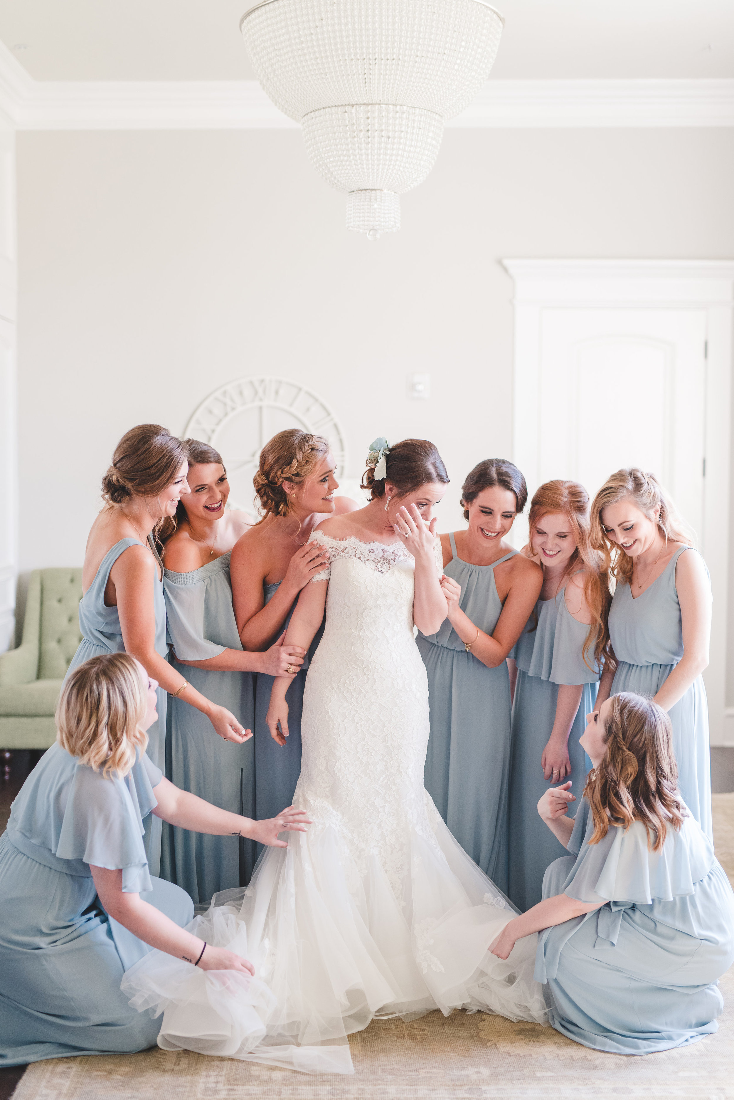 Bridal Suite Pictures | Rose Gold and Dusty Blue Winter Wedding in Dallas, TX