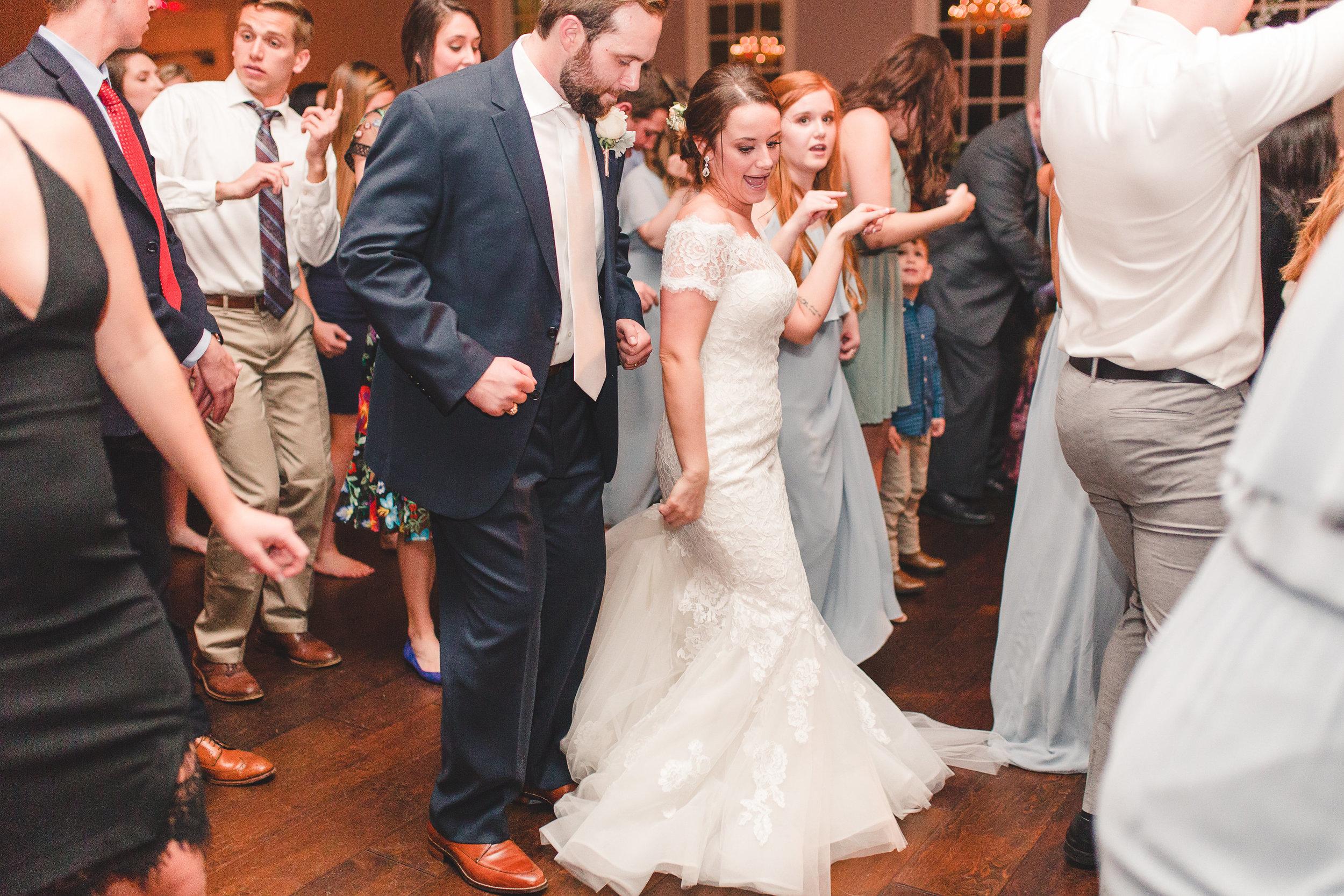 Wedding Dance Floor | Rose Gold and Dusty Blue Winter Wedding in Dallas, TX
