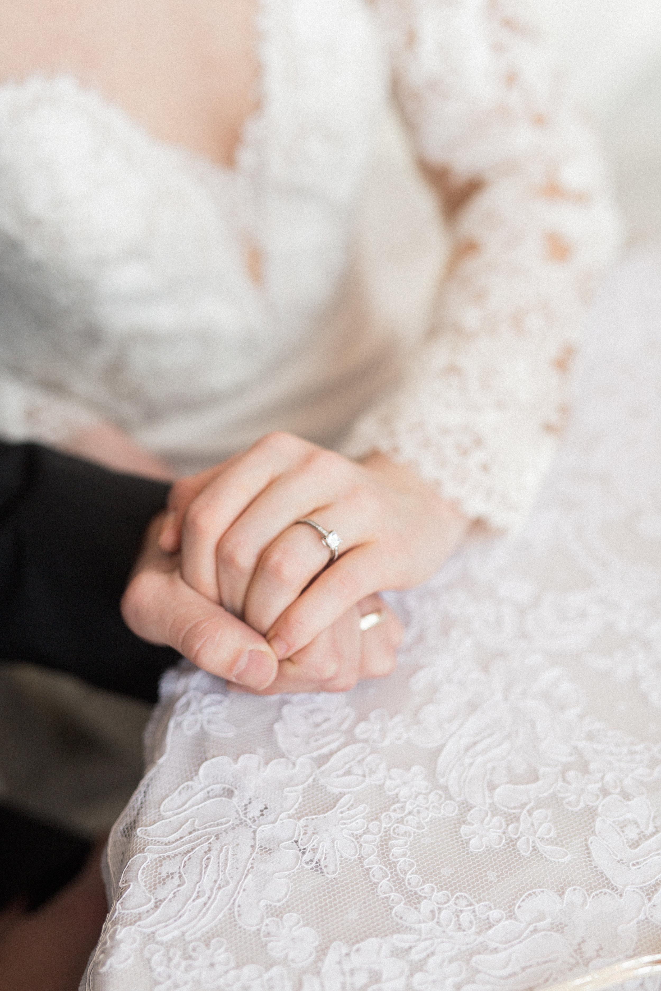 Lace Long Sleeve Wedding Dress   European Inspired White Winter Wedding