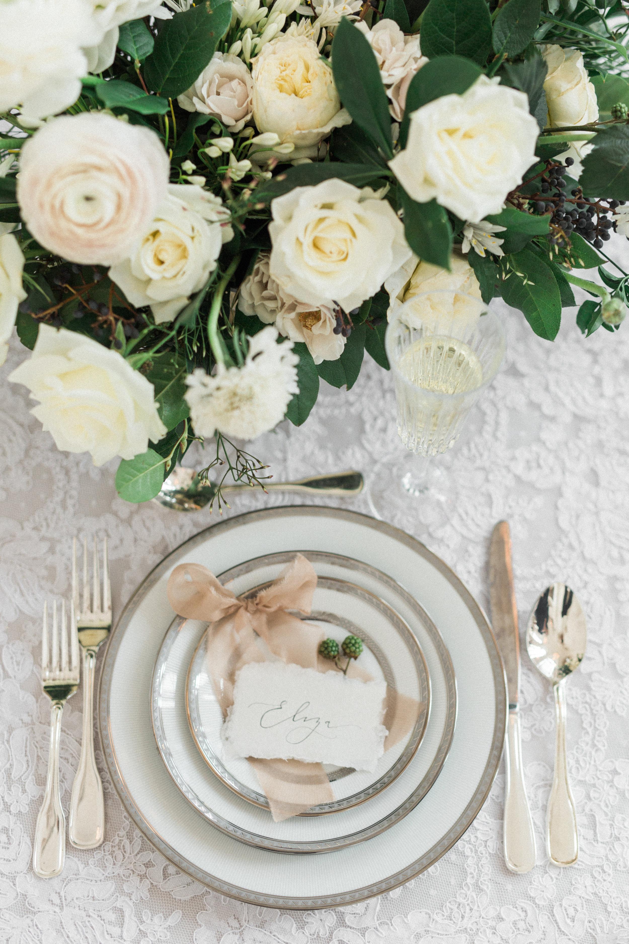 Pastel Winter Wedding Color Palette   Fine Art European Inspired Winter Wedding