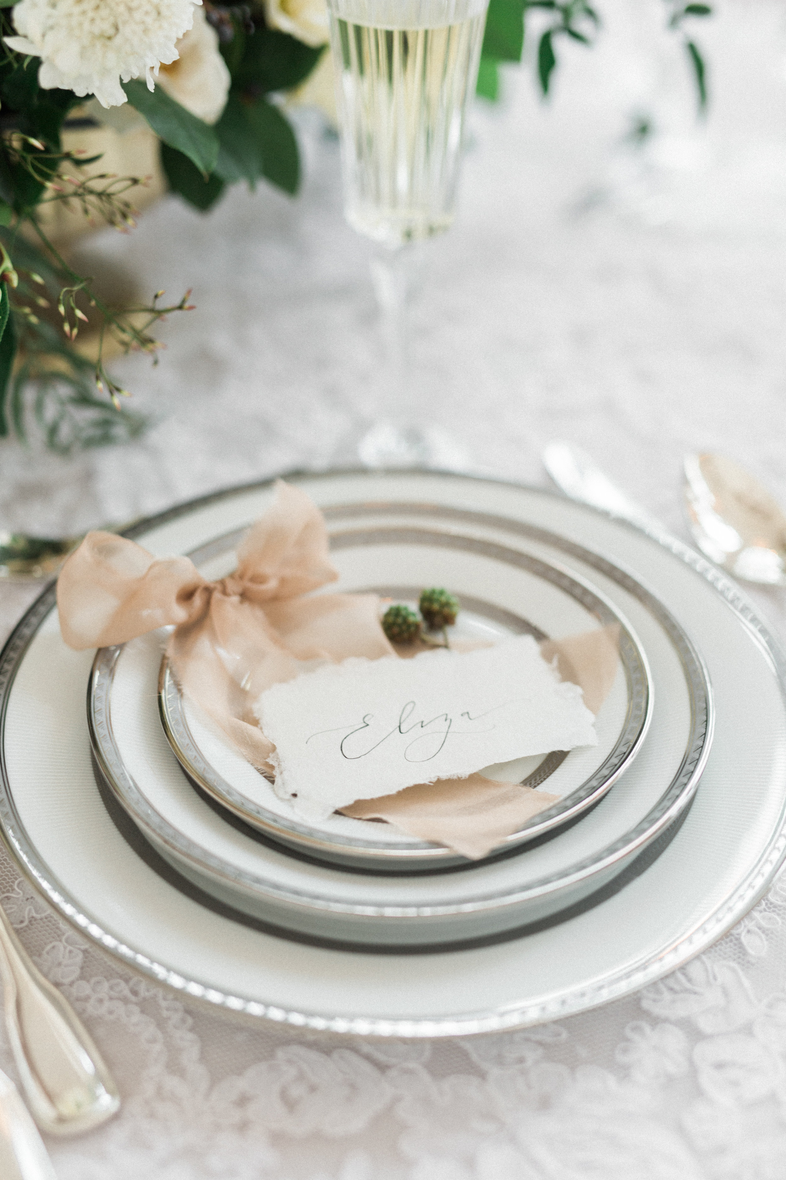 Formal Place Setting   Fine Art European Winter Wedding Inspiration in Fort Worth