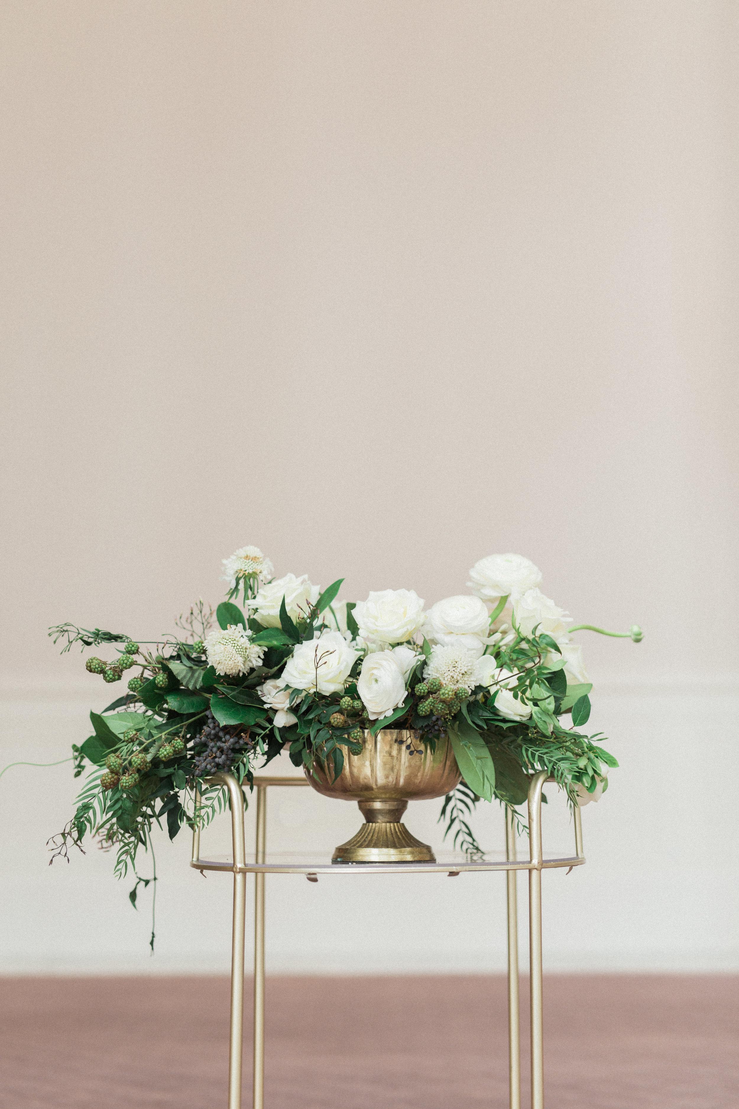 Textured Fine Art Flower Arrangement   European Inspired Wedding in Fort Worth