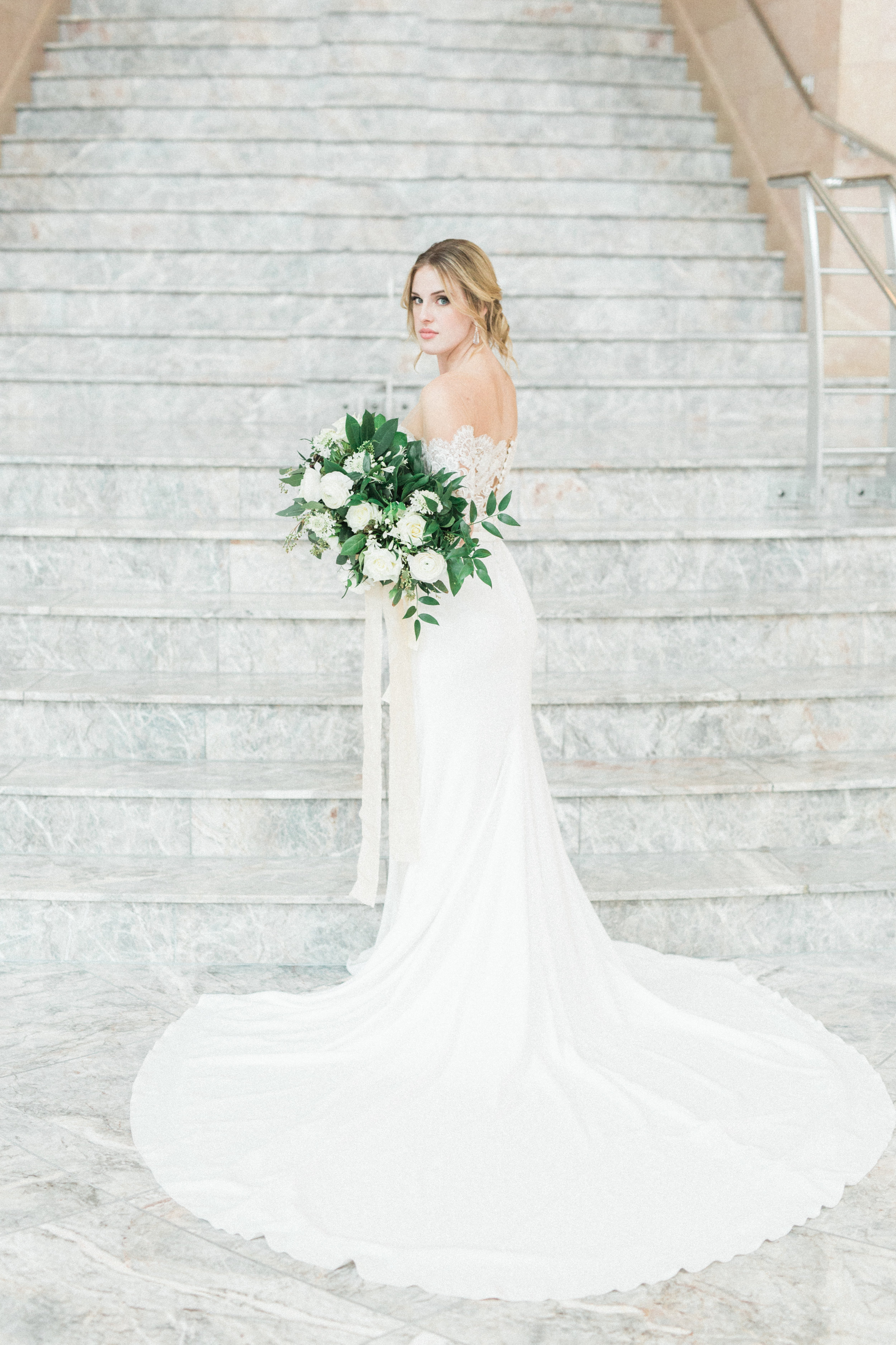 Lace Long Sleeve Wedding Dress   Fine Art European Inspired Wedding in Fort Worth