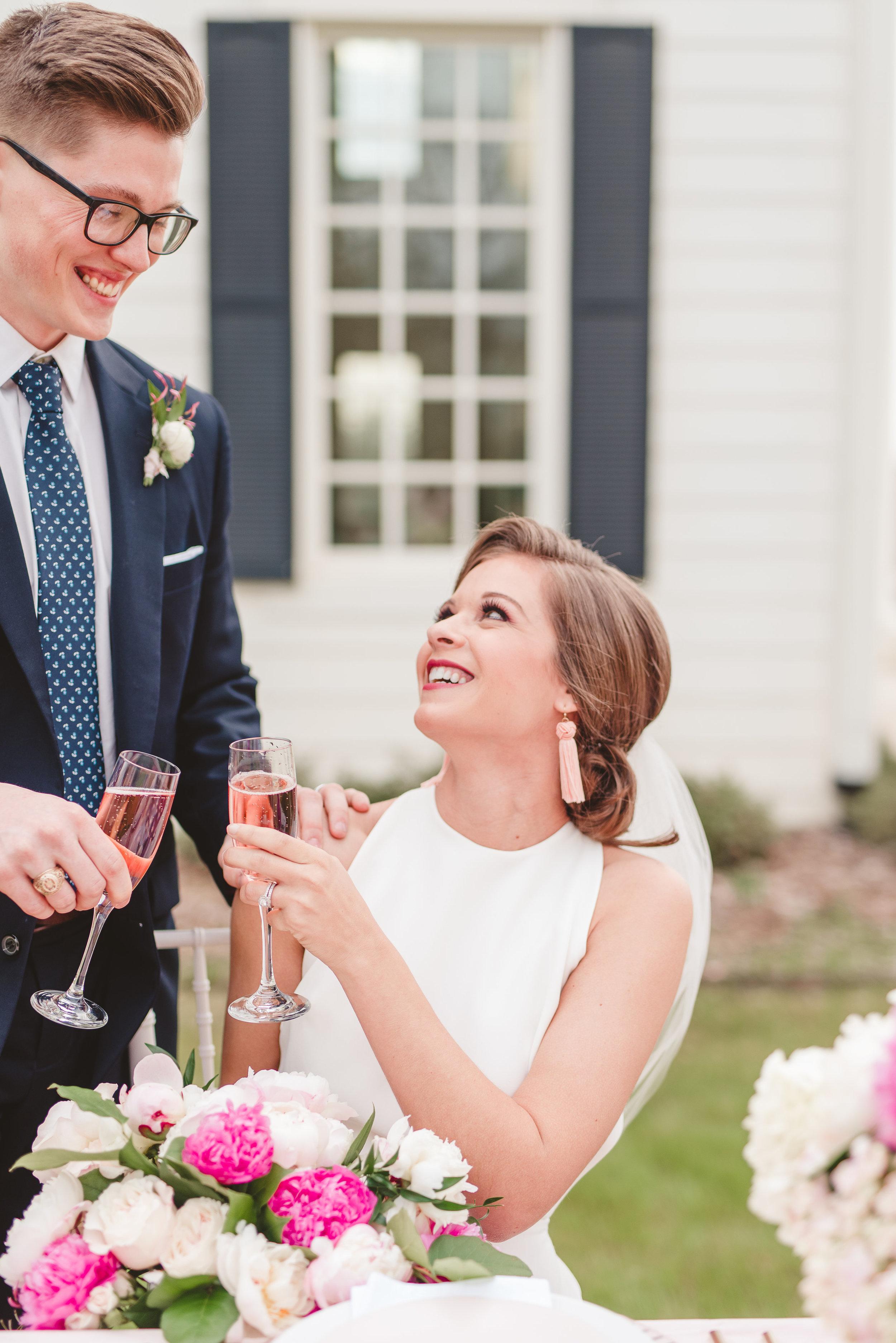 preppy spring southern wedding