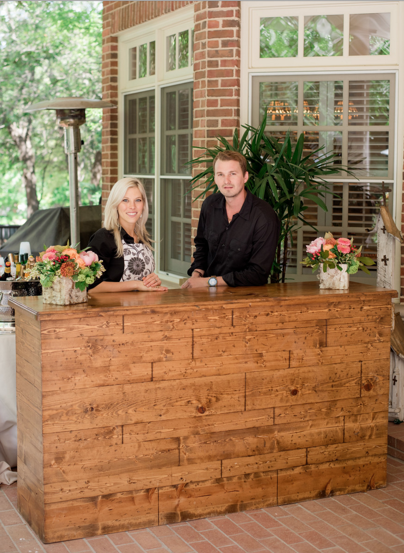 Custom Wood Bar Facade | Rustic Vibrant Southern Backyard BBQ in Fort Worth