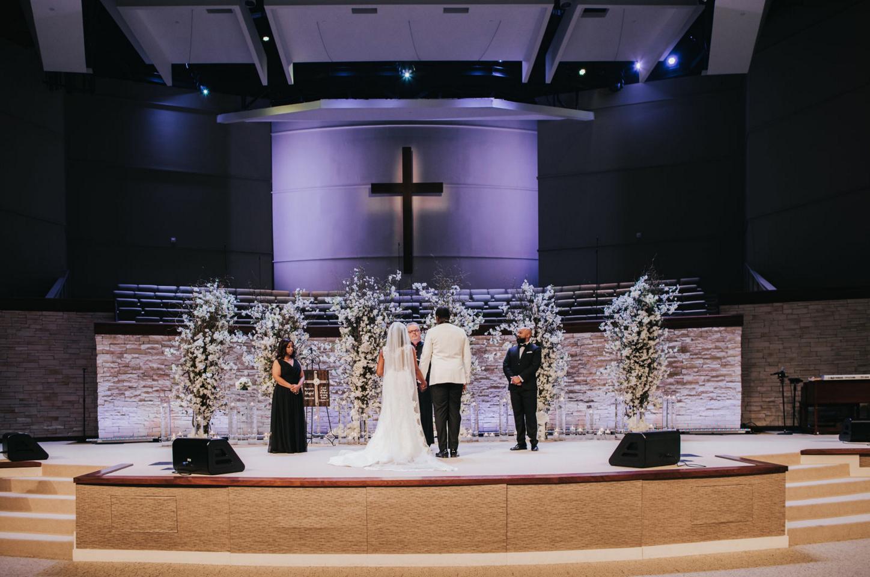 Modern Luxe Wedding Ceremony Design | Downtown Dallas Wedding