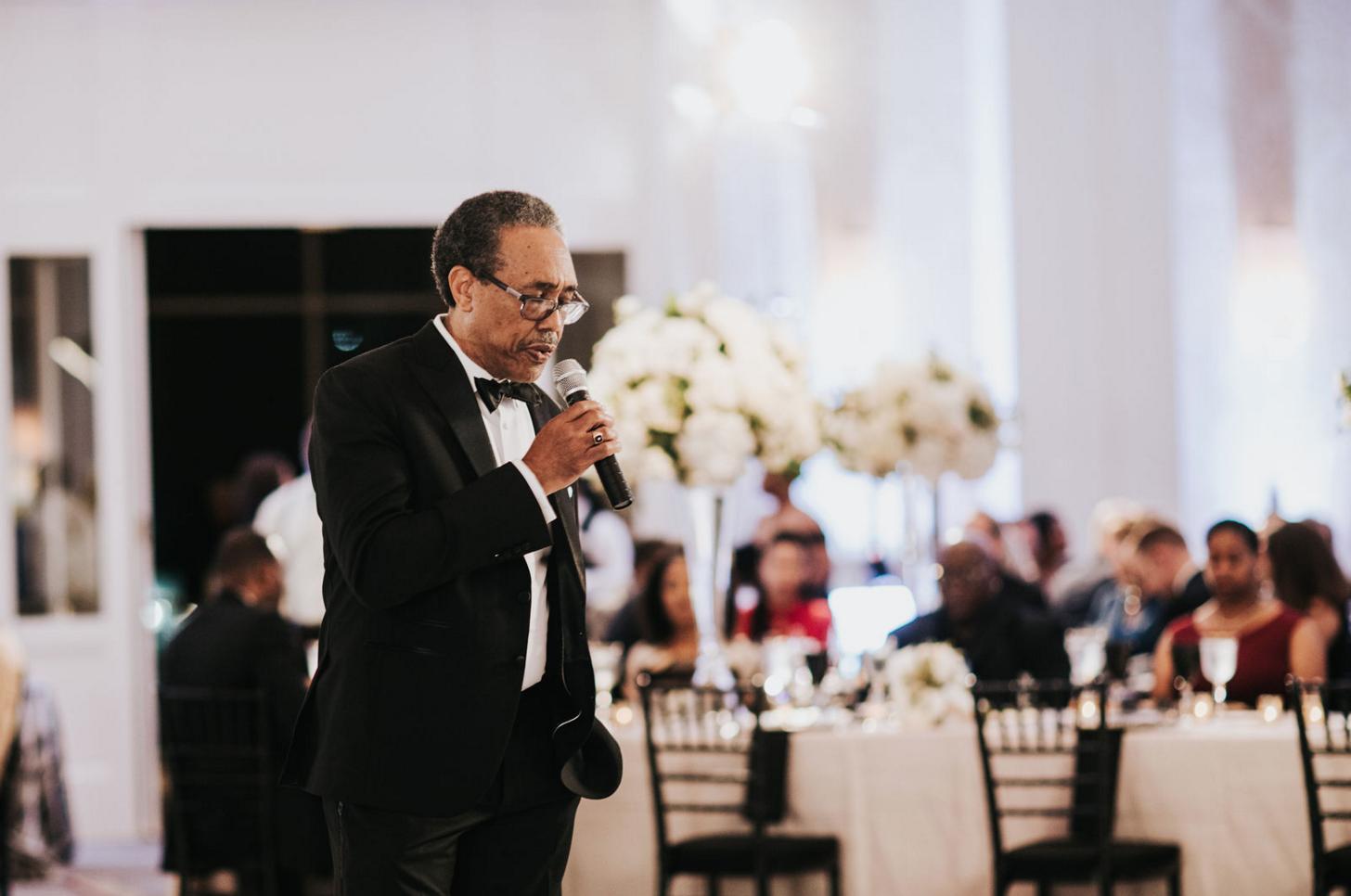 Modern Black and White Dallas Wedding