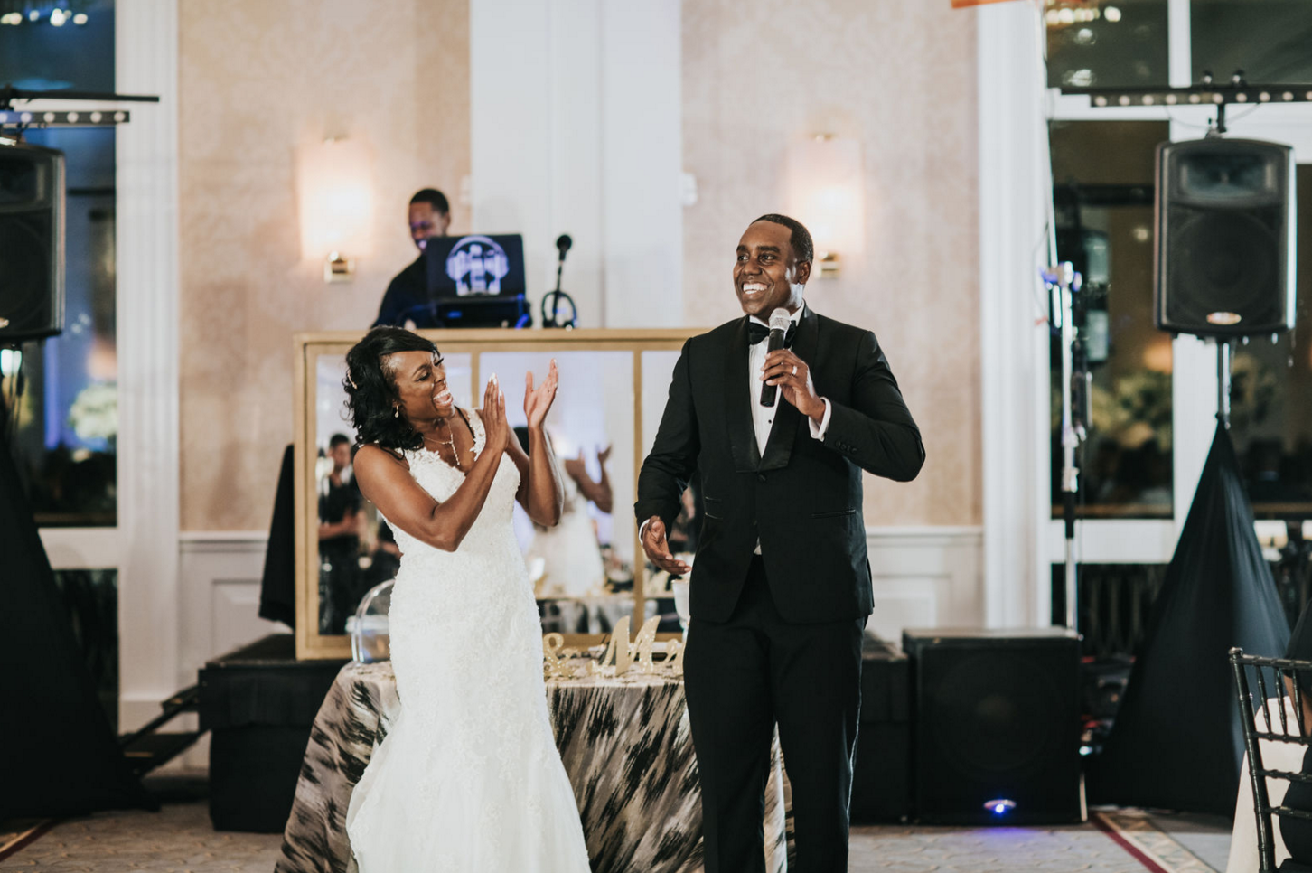 Black and Gold Downtown Dallas Reception