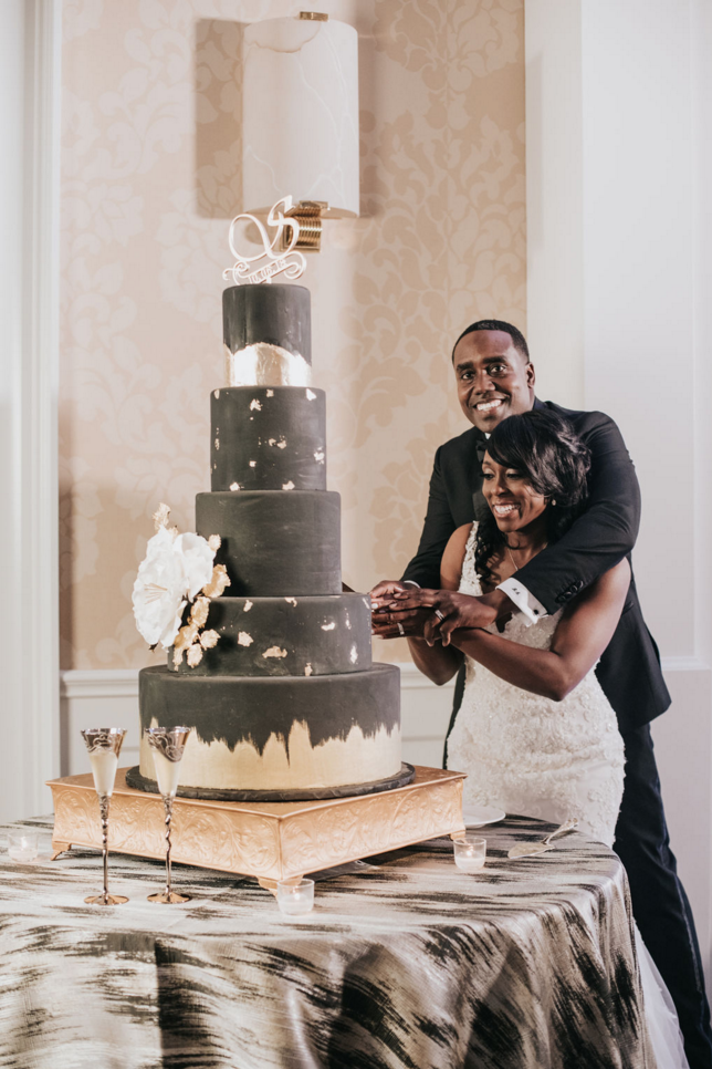 Black and Gold Luxe Dallas Wedding