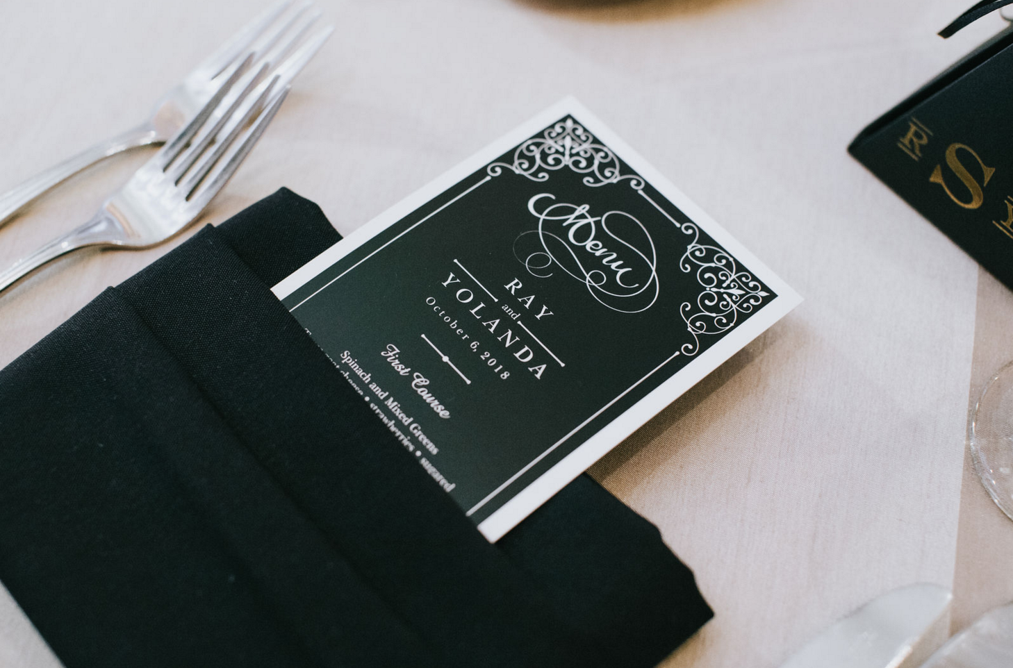 Custom Modern Luxe Wedding Design | Downtown Dallas Wedding