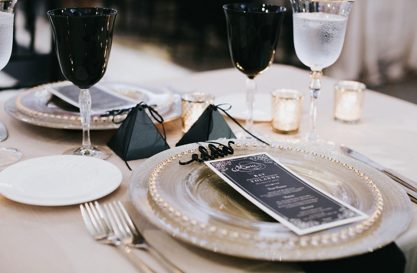 Black and Gold Wedding Table Design | Dallas Wedding Planning