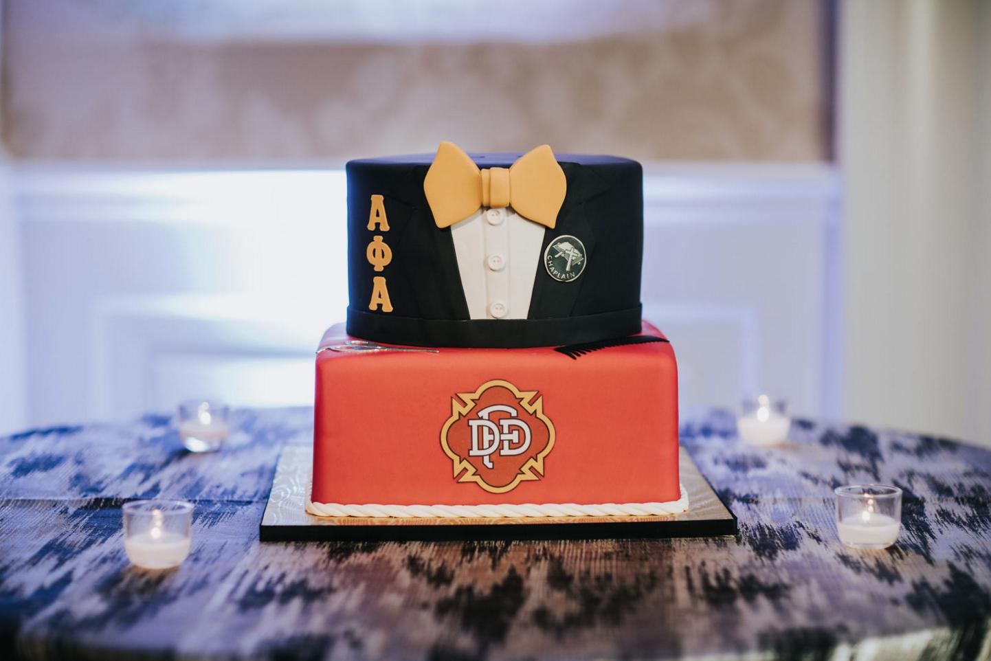 Custom Fraternity Grooms Cake | Modern Downtown Dallas Wedding