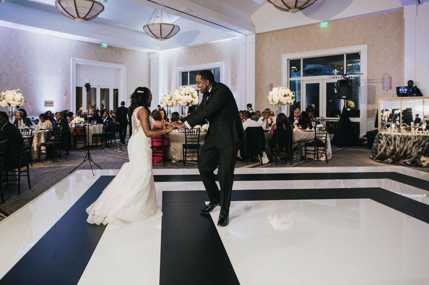 Downtown Dallas Wedding Reception