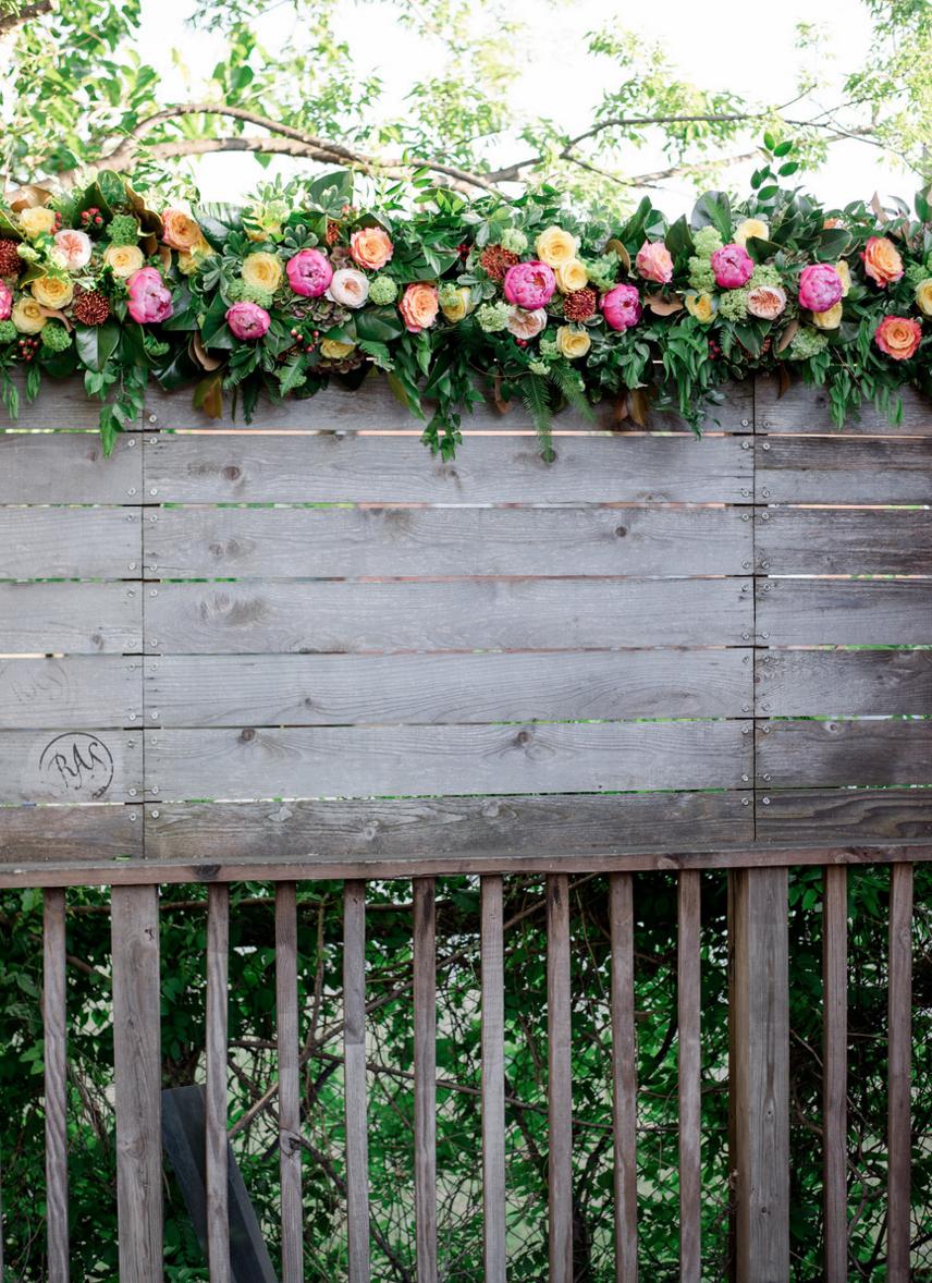 Vibrant Spring Wedding Flowers | Rustic Outdoor Texas Rehearsal Dinner