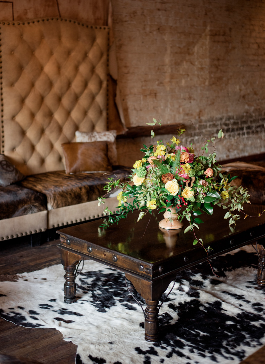 Western Inspired Wedding Lounge Area | Rustic Outdoor Texas Rehearsal Dinner