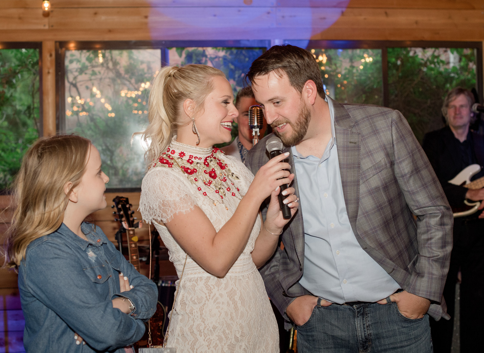 Bride and Groom Toasts | Rustic Outdoor Texas Rehearsal Dinner
