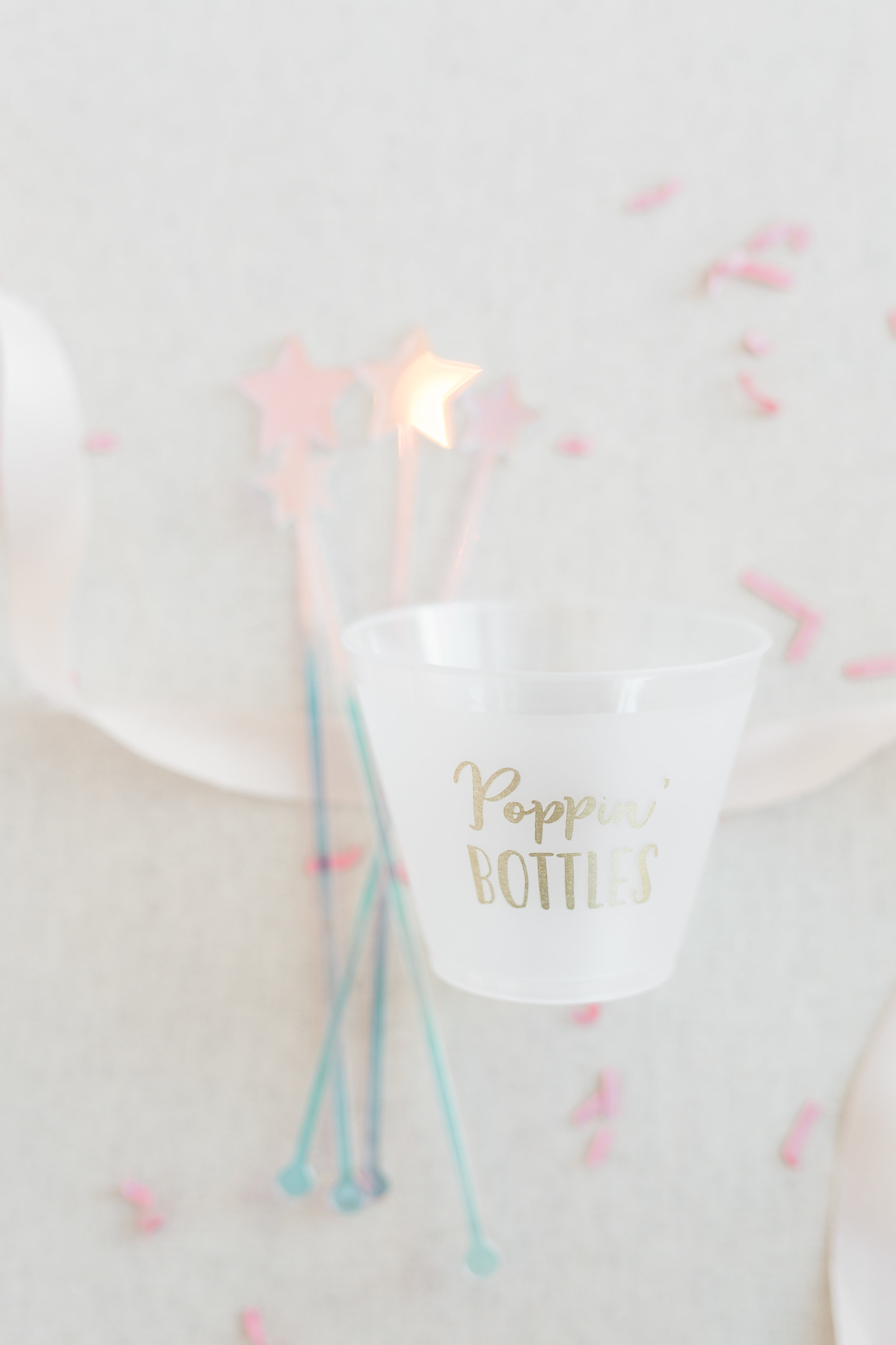 """""""Poppin Bottles"""" Party Cup and Star Stirrers from Packed Party"""
