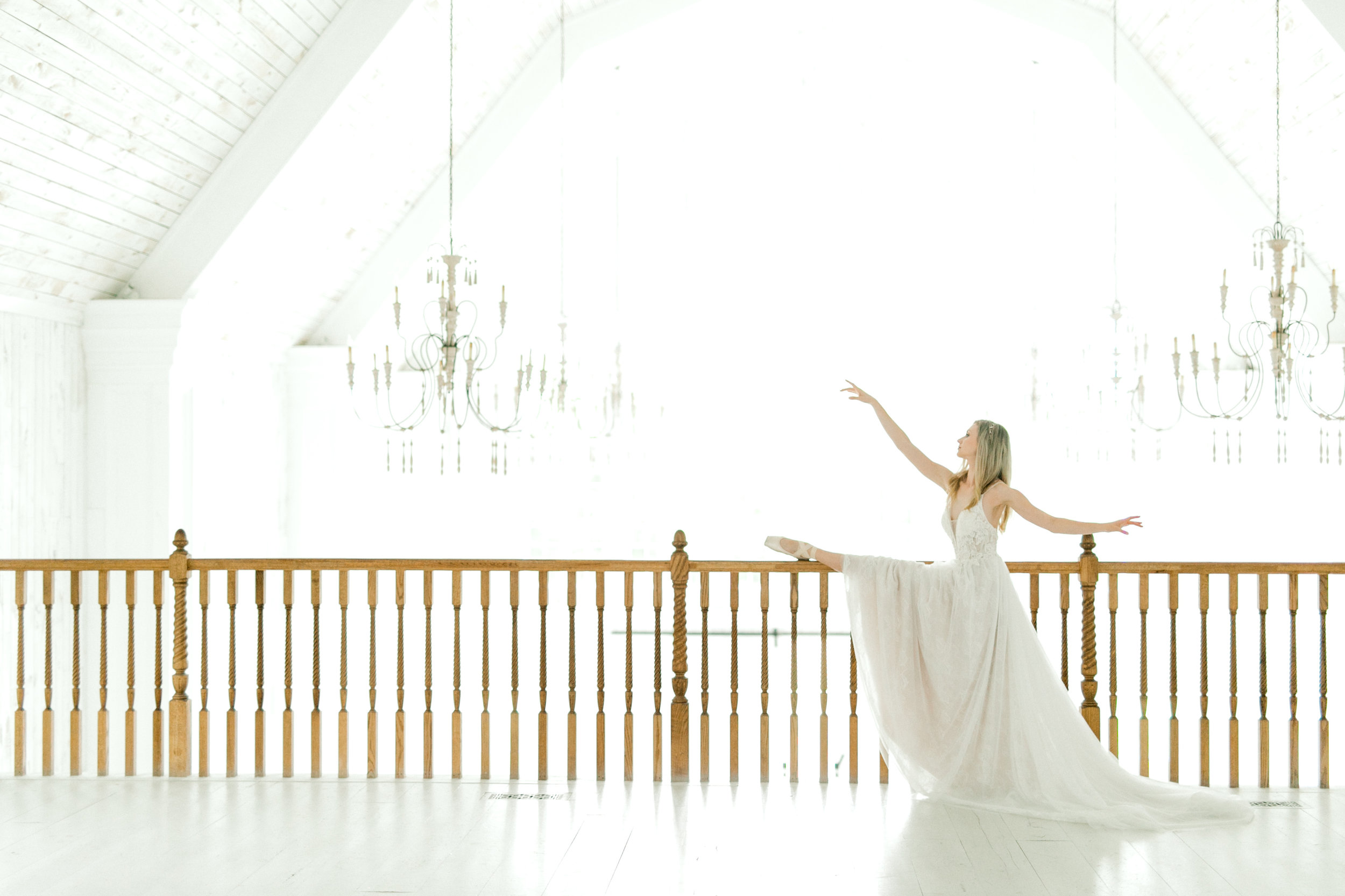 ballet inspired white barn wedding fine art wedding photography
