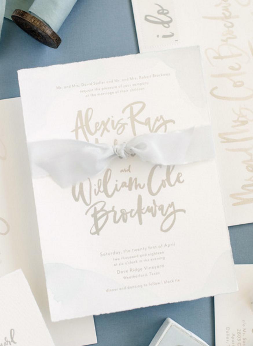 Foil Press Invitations