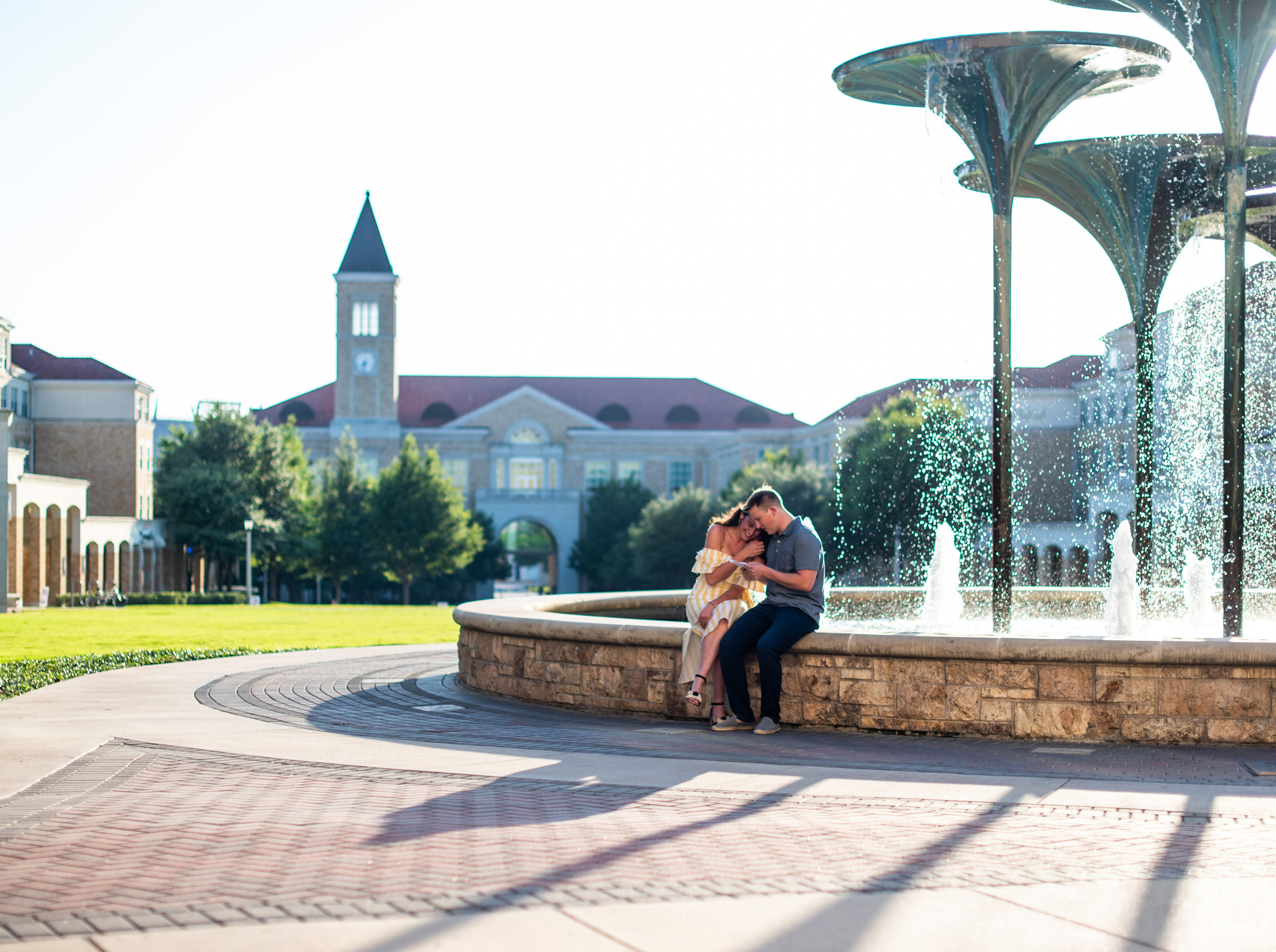 fort worth wedding proposal story at TCU