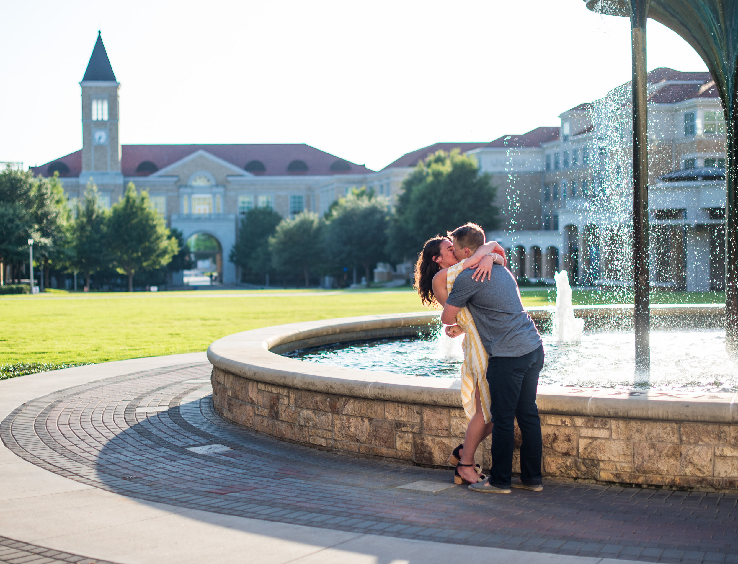 frog fountain tcu wedding proposal story